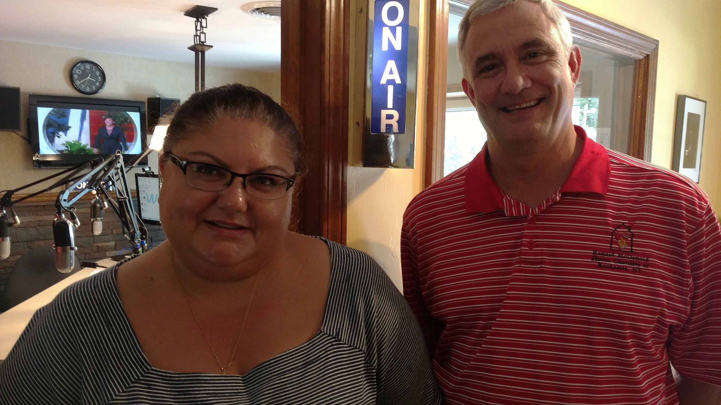 Julie Izzo Niedzwick of Stokoe Farms and David Kelly, Ronald McDonald Charities Rochester - Working Together for the Kids!!