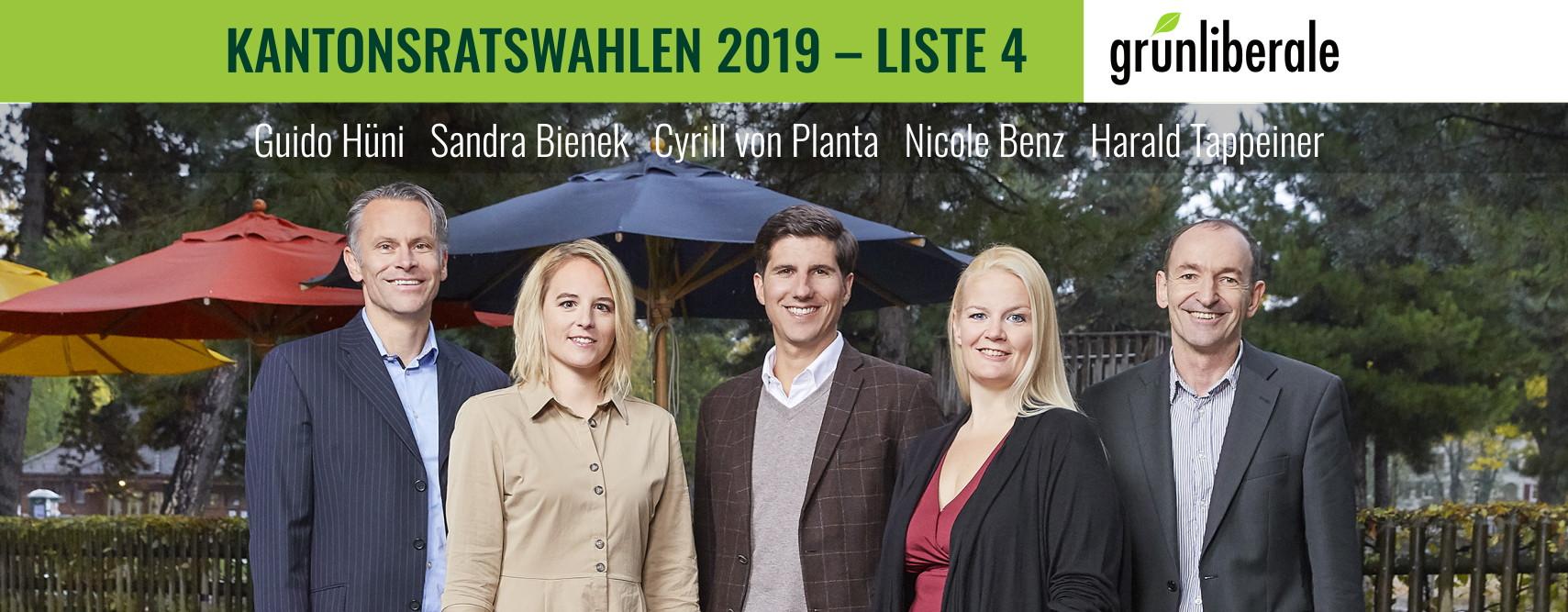 Auf dem Foto sind die Kandidatinnen und Kandidaten der Wahlliste der glp 4&5 für die Kantonsratswahlen abgebildet. Wir posieren vor der Josefswiese.