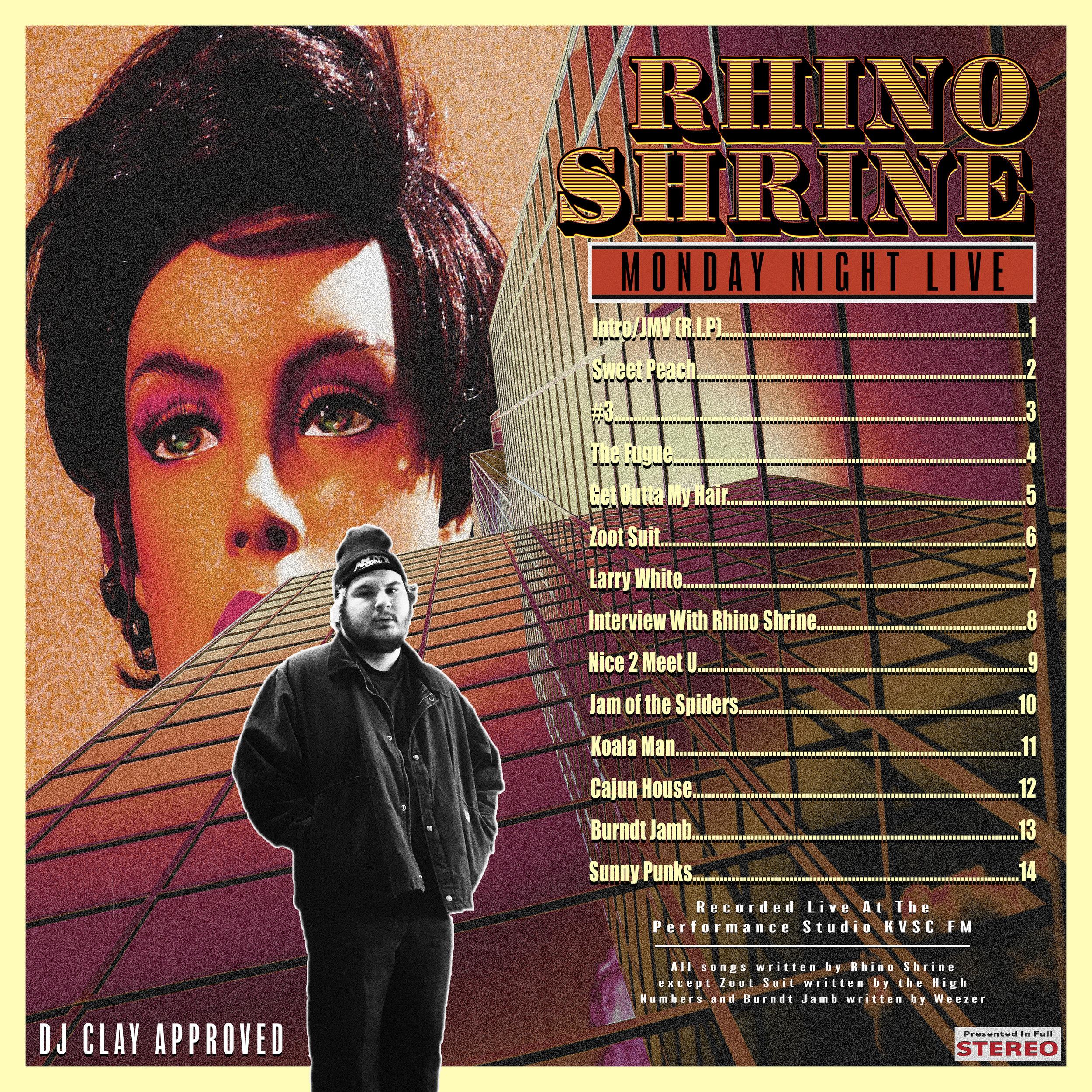 "Album art: Rhino Shrine ""Monday Night Live"""