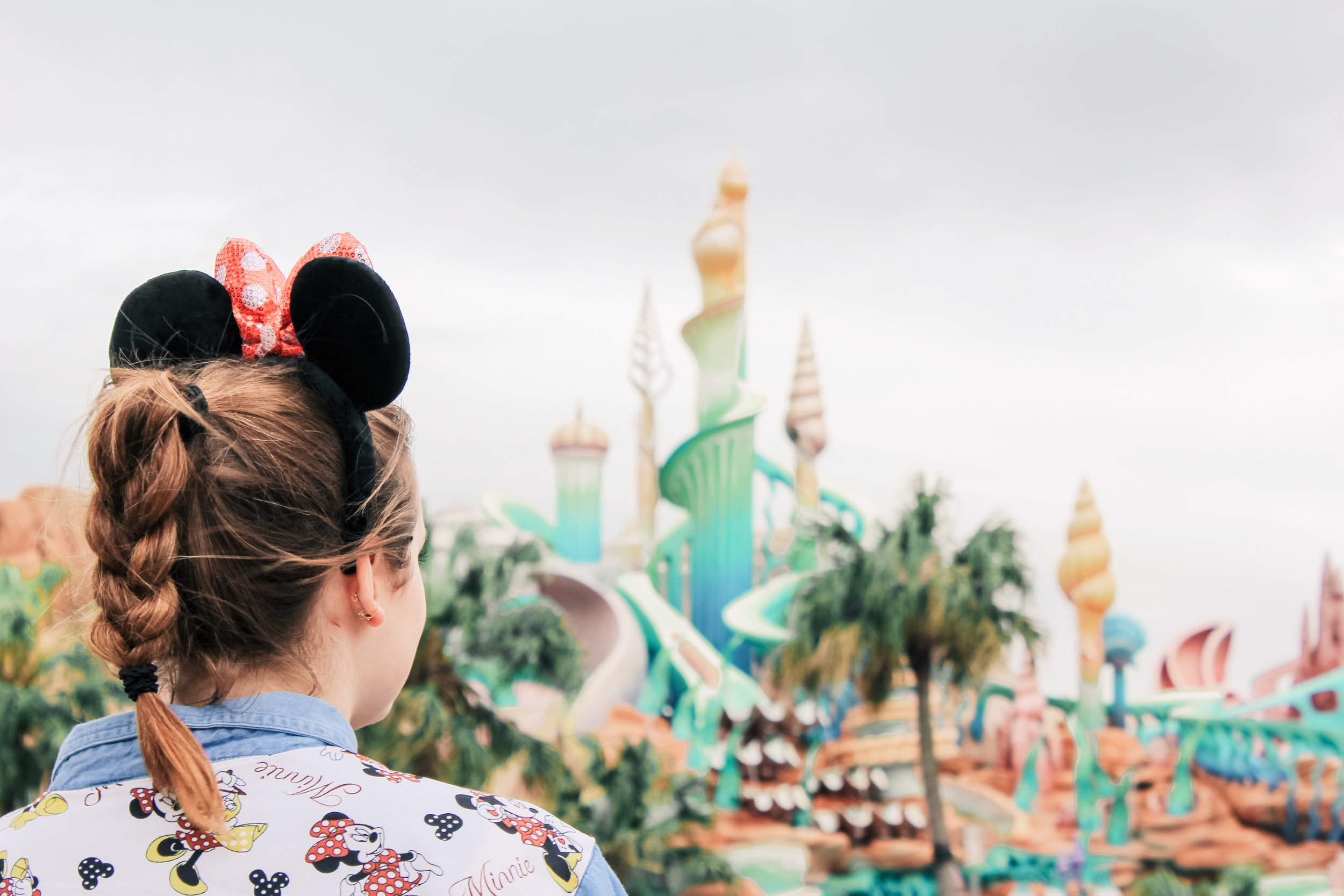 Checking out Little Mermaid's castle