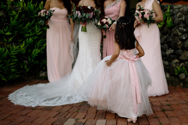Flower Girl and Bridesmaids, La Hacienda Siesta Alegre