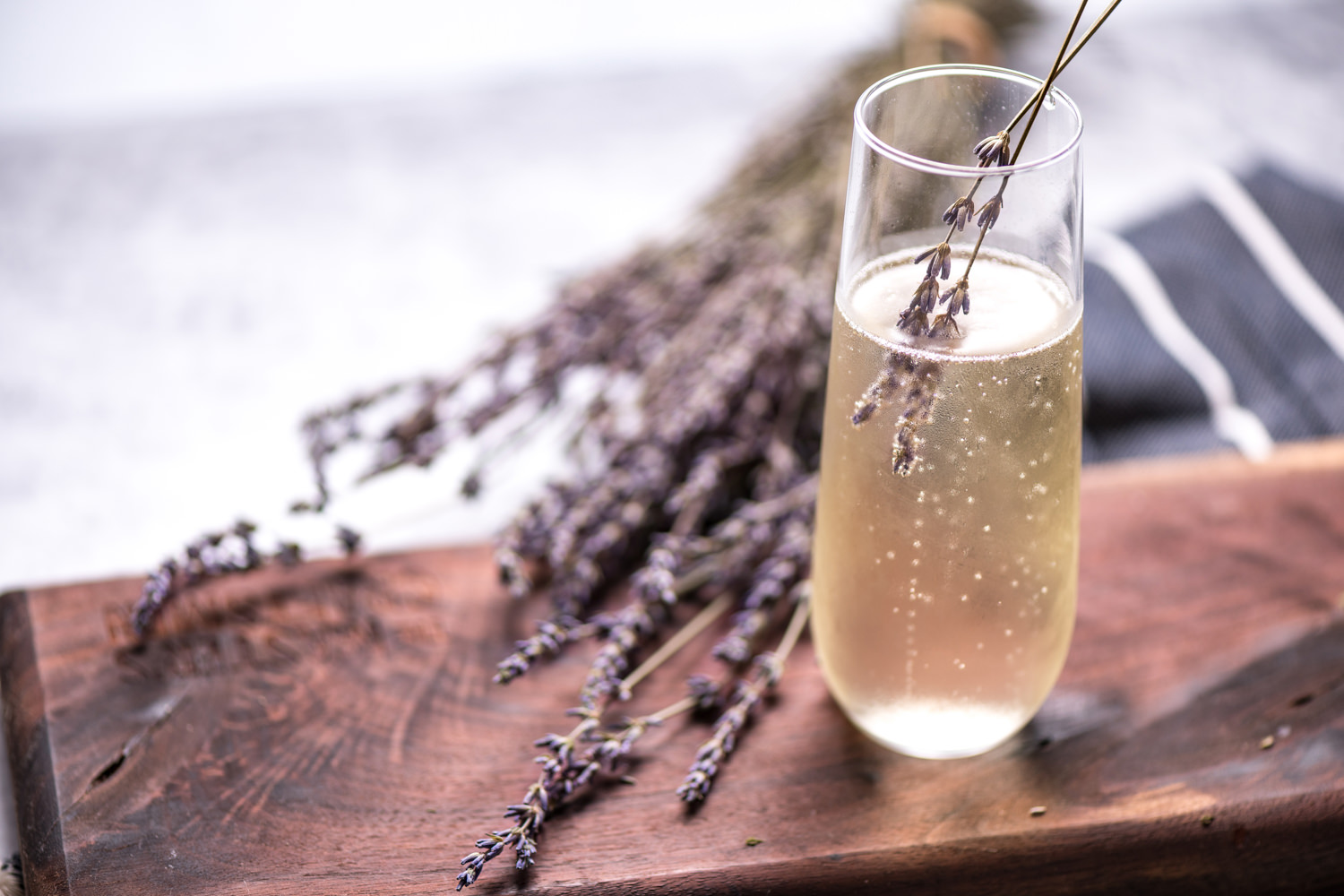 LAVENDER-INFUSED PROSECCO - shot for Lavender Falls Farm