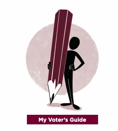 """VOTING 101 - """"How do I vote?""""Click on the icon for a step-by-step guide on how to pledge your ballot!"""