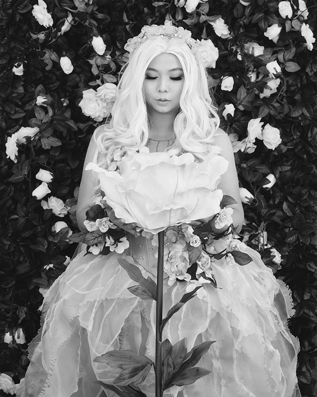 "🌸 Spring Blossom 🌸 Modeled by @ladyauroracosplay Photographed by me  Honestly the big flower prop was the best part.  Fujifilm GFX 50S Fujifilm GF 120mm f/4 lens Profoto B1X Paul C Buff 86"" PLM  #spring #fashion #asianmodel #portrait #photoshoot #FujifilmGFX_US #gfx50s #gf120mm #profotob1x #mediumformat #sfphotographer #monochromnights"