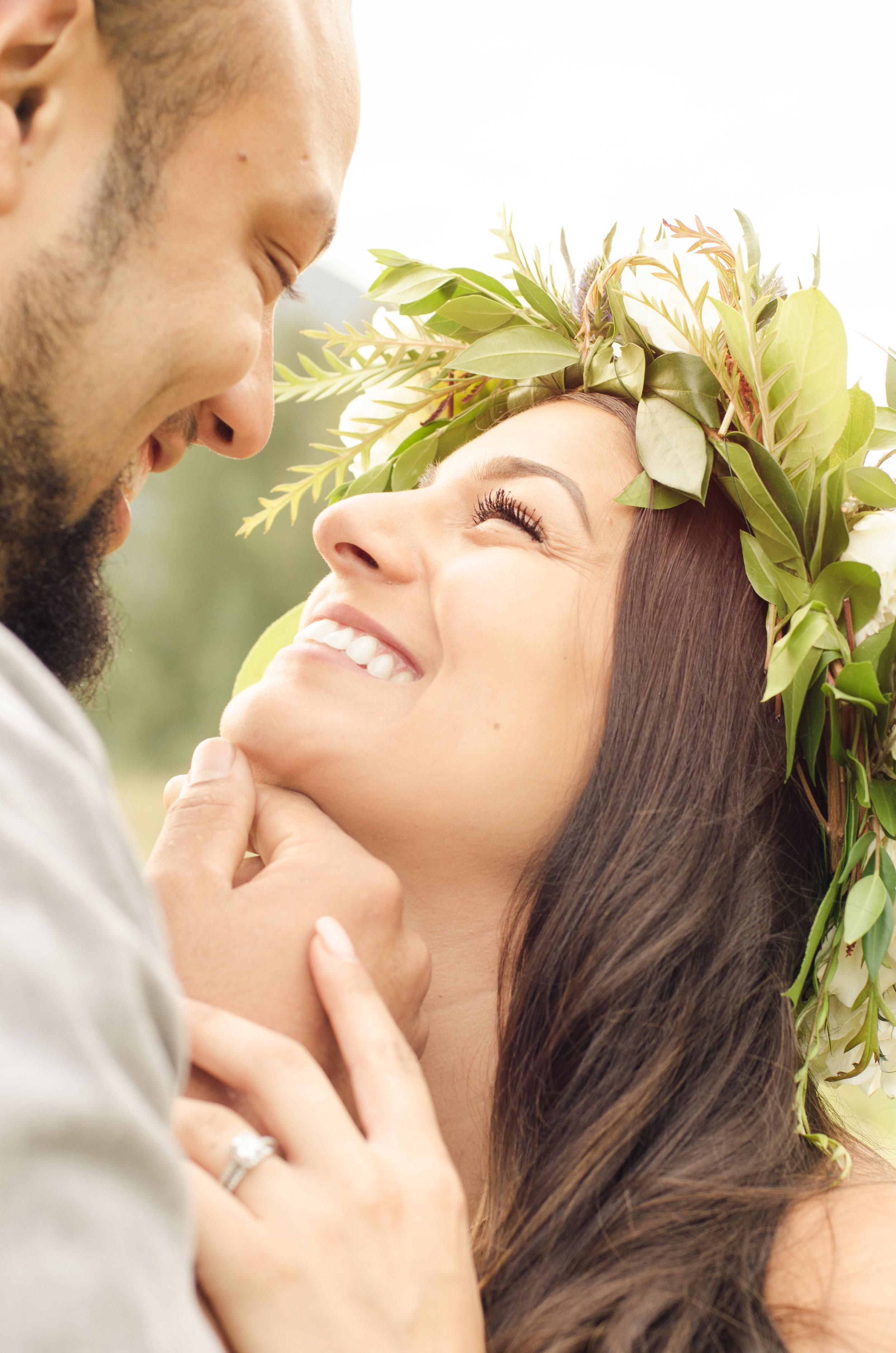 Couple smiling with much love exuding from face