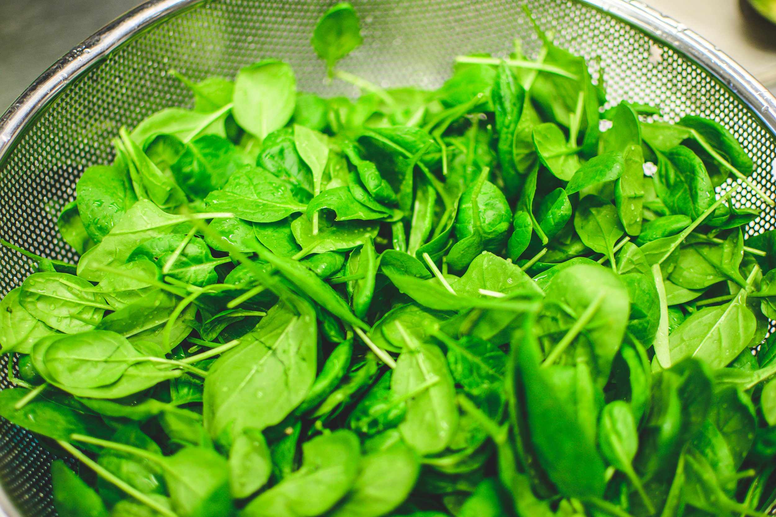 spinach - 97 percent of conventional spinach samples contained pesticide residues.Conventional spinach had relatively high concentrations of permethrin, a neurotoxic insecticide.