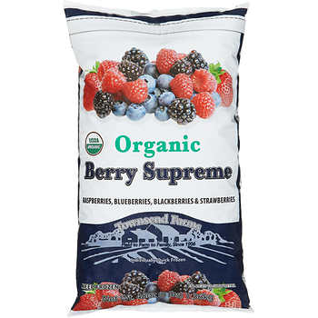 - This one is an organic frozen pack from Costco and has a combination of raspberries,blueberries,blackberries and strawberries.
