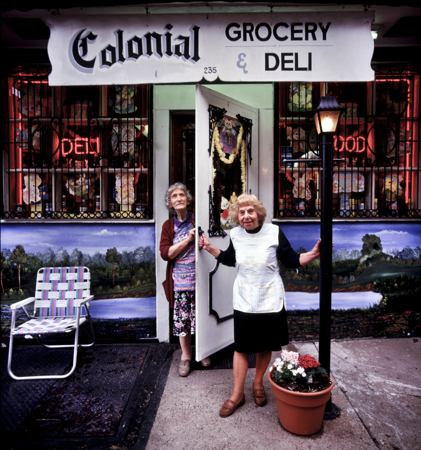Peggy at the Colonial Deli