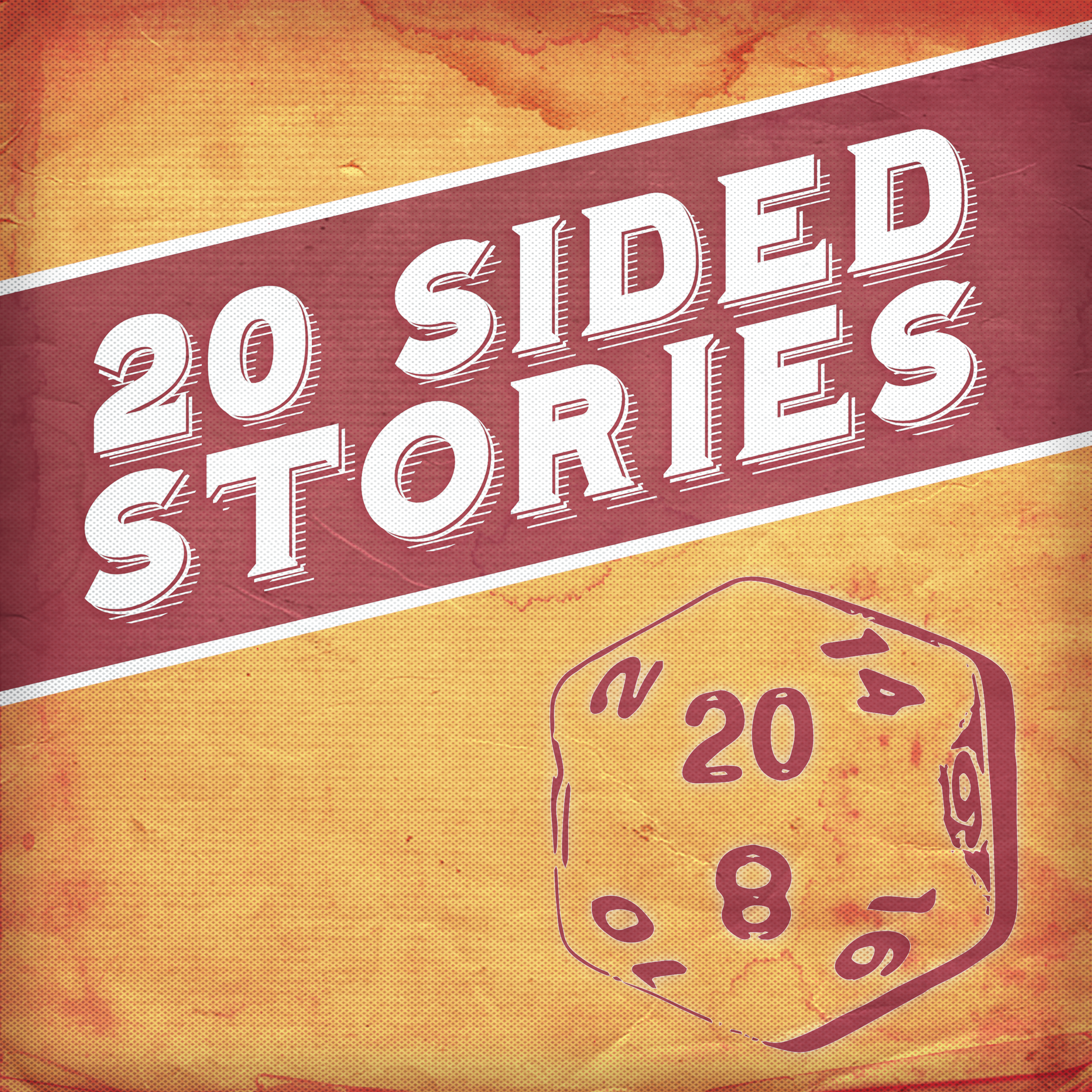20 Sided Stories main cover art, featuring a 20 sided dice