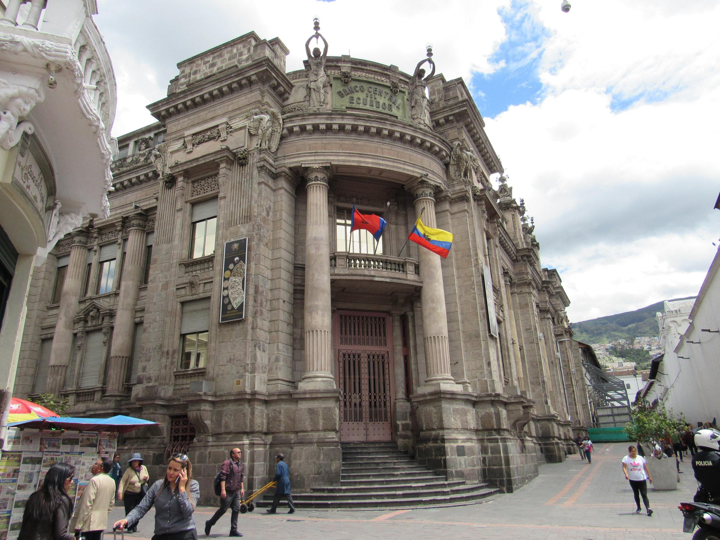Ecuador's previous central bank, now a museum