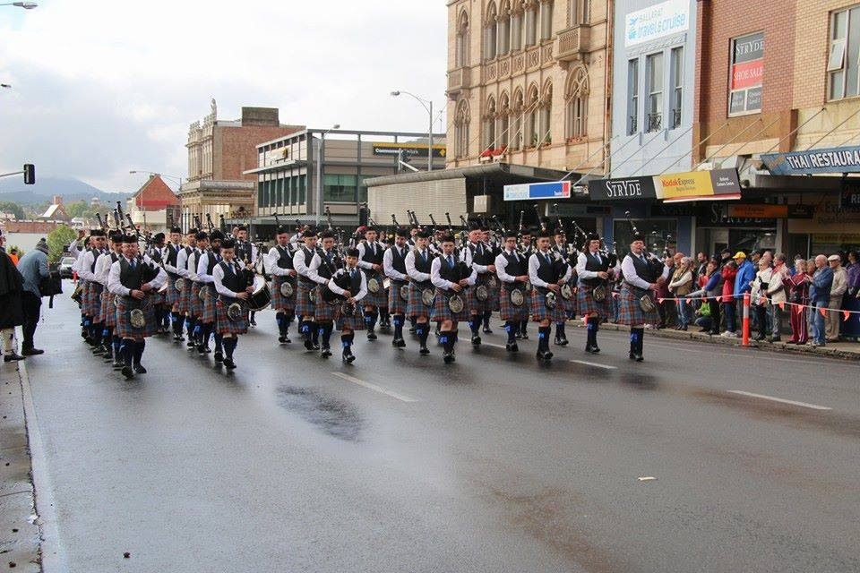 The band competed and won with 30 pipers, 1 bass, 11 Tenors and 8 Snares