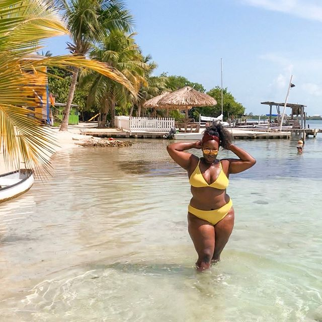 Summer is here and whatever summer body you ended up with this session, embrace it.  Happy Friday!  #belize #freepressswim #yellowbikini #nordstroms #embracingmycurves #summerbody