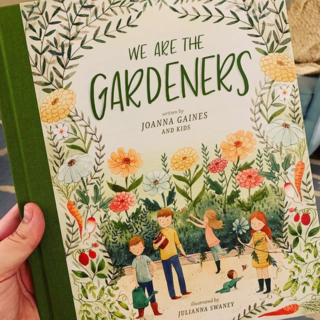 """Do you guys know this cute little book?  I've been reading it to my littles.  But guess what?  Its not just a beautiful kids book about cute children tending to a garden.  It's actually a story of resiliency, courage, and strength! 🌿🌿🌿🌿🌿🌿🌿🌿🌿🌿 When life throws you seasons of weeds and animals that eat half your garden don't be afraid to repeat your vision over and over again if needed """"we are the gardeners""""! They declare it in this book.  But what is your vision statement?...""""I am....."""" 🌿🌿🌿🌿🌿🌿🌿🌿 #worthyoflove #youarecapableofamazingthings #abletomakehardchoices #strongerthanyesterday #buildingalegacy #growingheartsandminds #dreamingbig 🌿🌿🌿🌿🌿🌿🌿🌿 #chipandjoannagaines #wearethegardeners #juliannaswaney"""