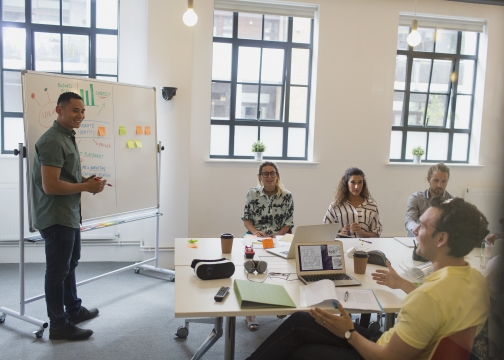 Creative business meeting