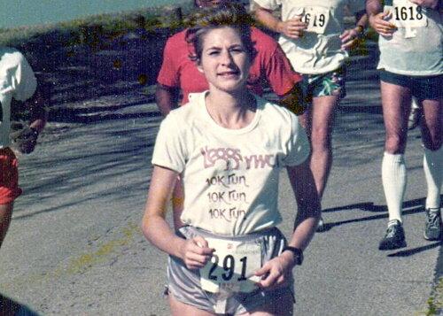 Marion Moss Hubbard at White Rock Marathon_1985.jpg