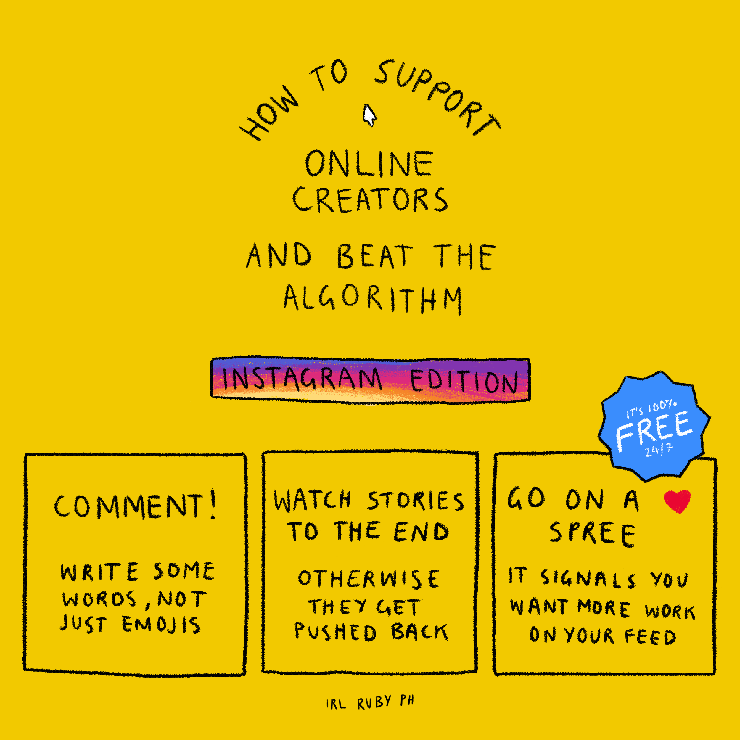 Support Online Creators: Instagram - 2018