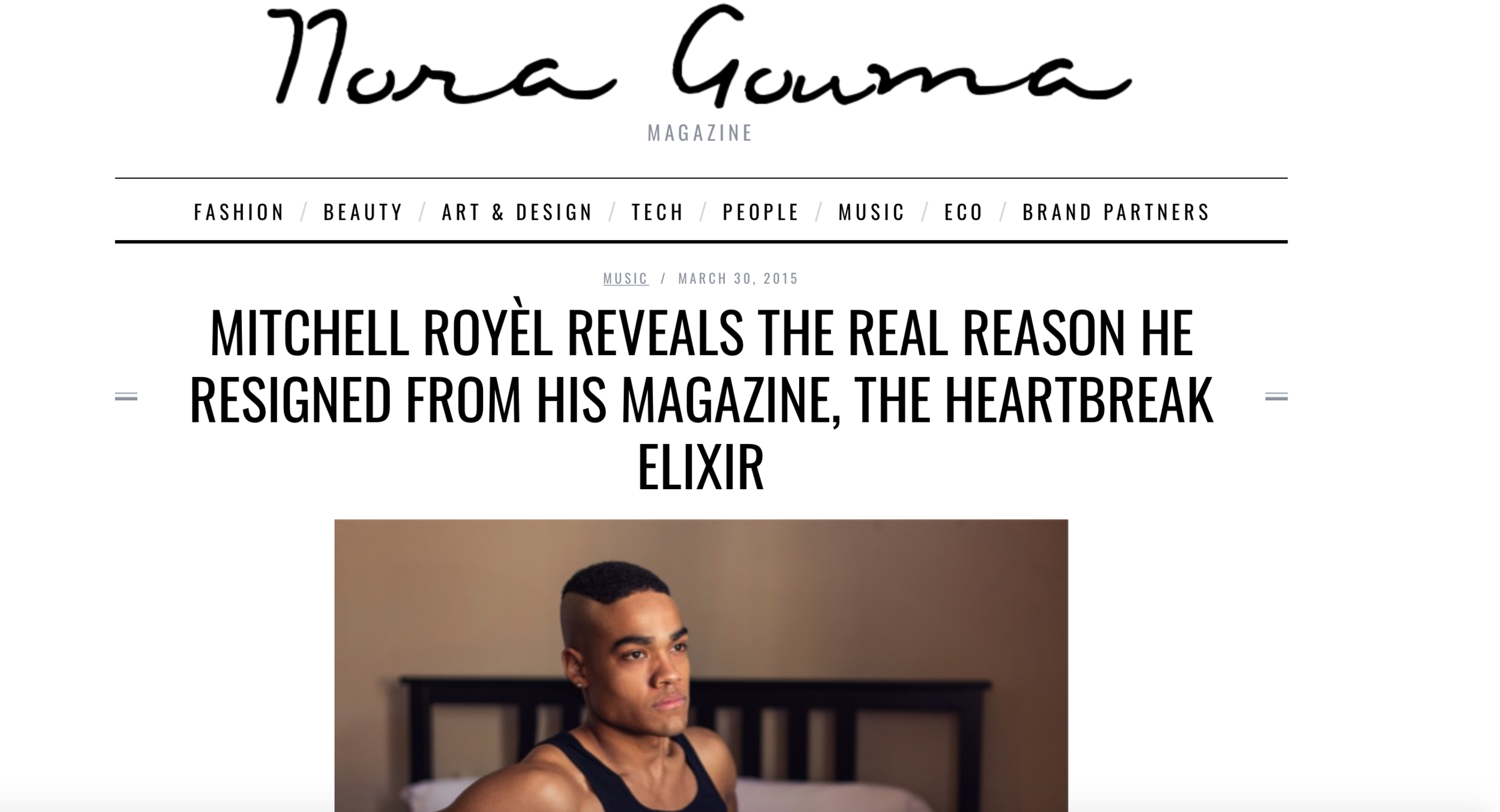Mitchell Royél Reveals The Real Reason He Resigned From His Magazine, The Heartbreak Elixir - Mitchell Royèl has invented a unique brand of mindfulness geared towards a younger millennial. One heralded by pounding techno and filtered selfies. His seamless blend of sensationalism and transformation have given rise to a new genre of self-help.