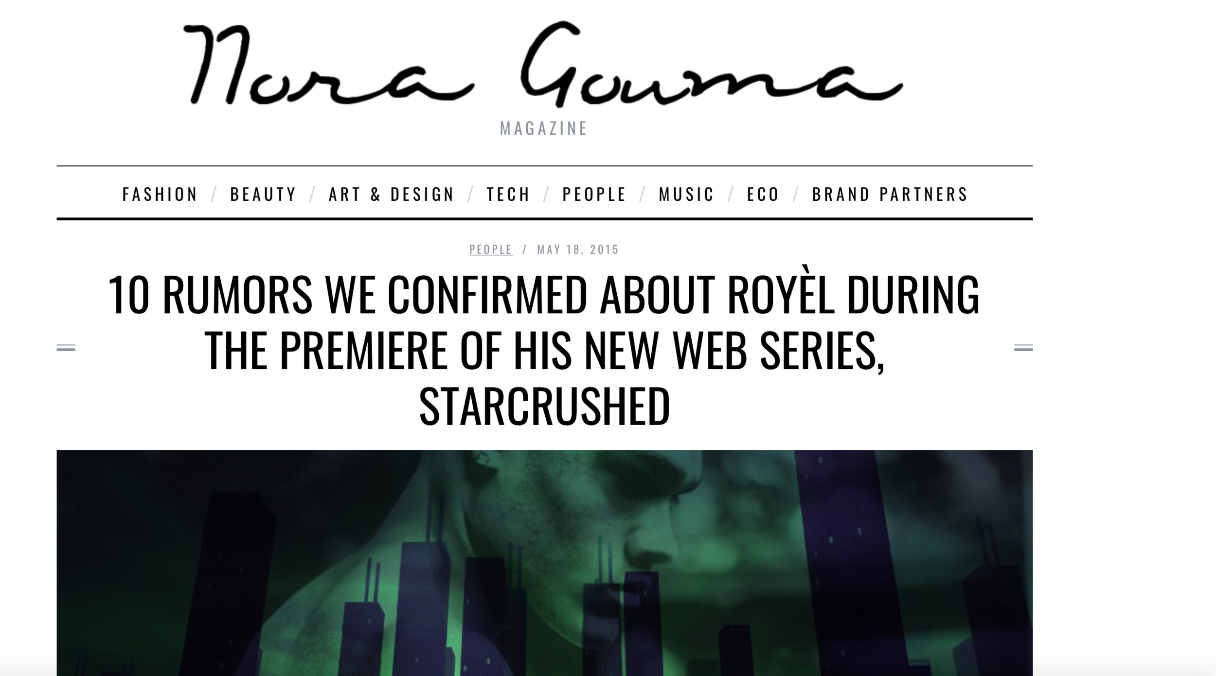 10 RUMORS WE CONFIRMED ABOUT ROYÈL DURING THE PREMIERE OF HIS NEW WEB SERIES, STARCRUSHED - We were given the opportunity to stream the first episode of Mitchell Royèl's sci-fi web series before itpremieres on Monday. We can't reveal much, but we did put together a list of rumors we were able toconfirm about the artist during the premiere of the show.