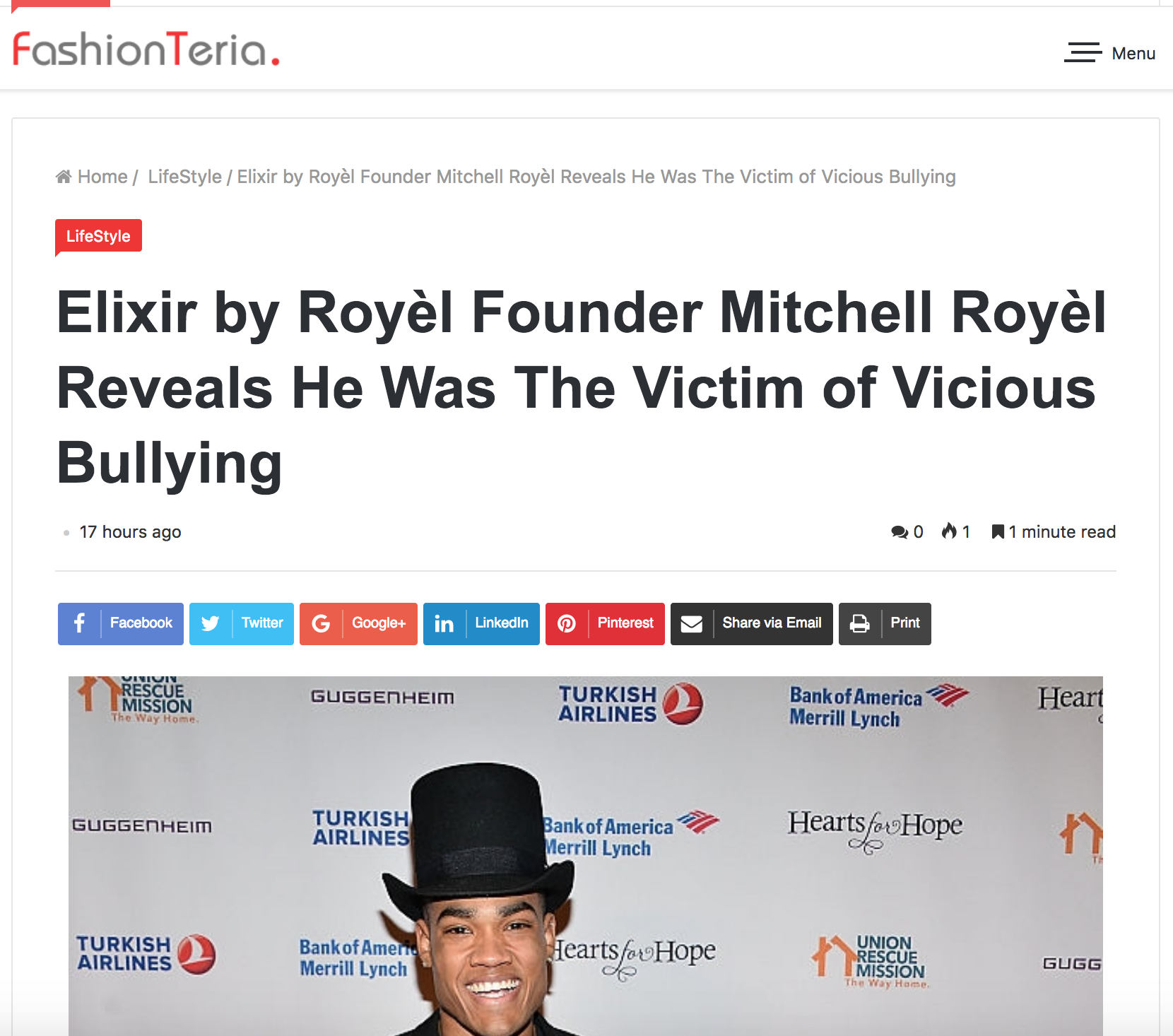 """Elixir by Royèl Founder Mitchell Royèl Reveals He Was The Victim of Vicious Bullying - Add Mitchell Royèl (born Mitchell Carlisle Abbott) to the growing list of millennials that have survived periods of reckless bullying.On February 12th, 2019, Royèl posted to social media about a dark period in his life """"many moons ago,"""" where he was deeply involved with a group of people who """"degraded, disrespected and humiliated"""" him on a regular basis."""