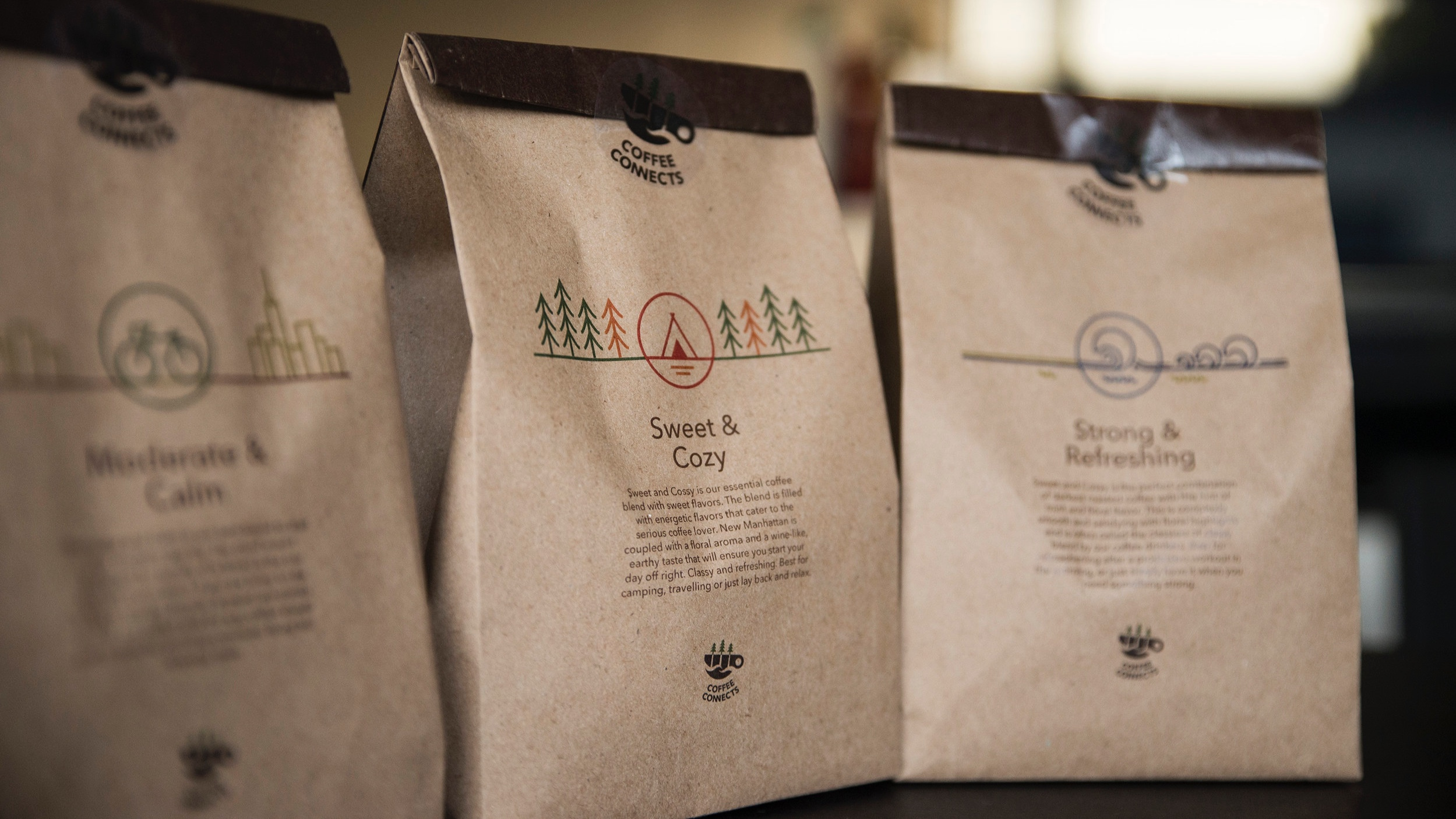 Coffee connects - Branding + Packaging design