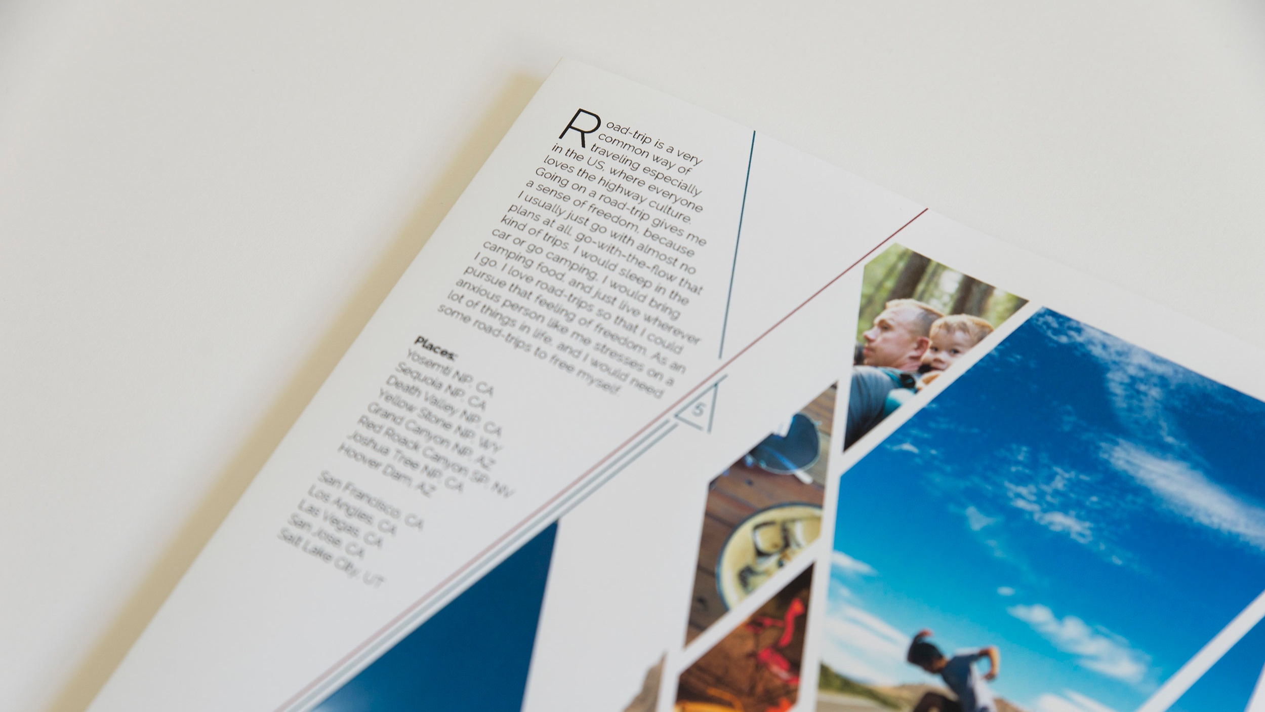 Travel booklet - Book Layout design + Book binding