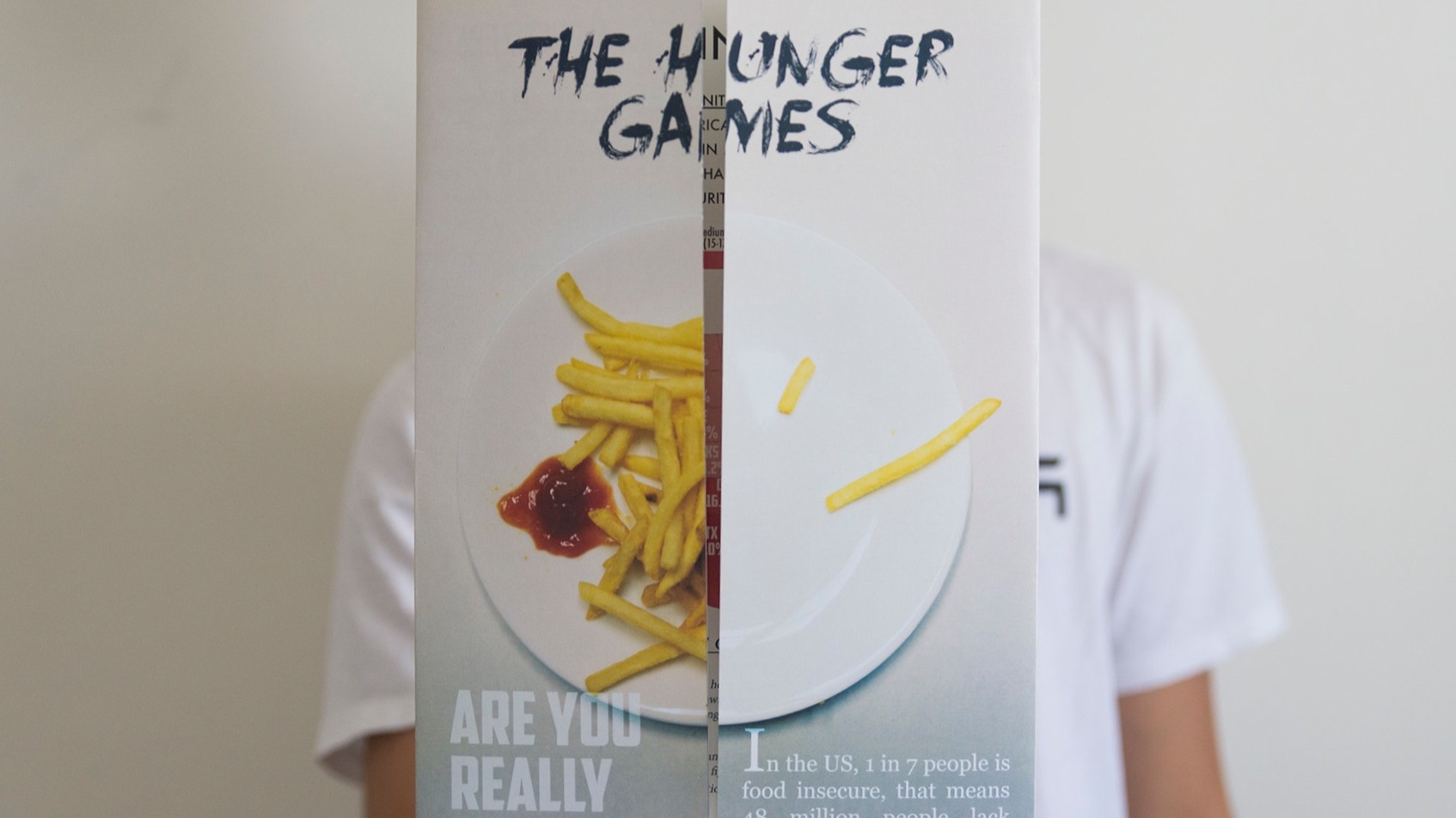Hunger in the us campaign - A campaign that raise the awareness of food inequality in the US.