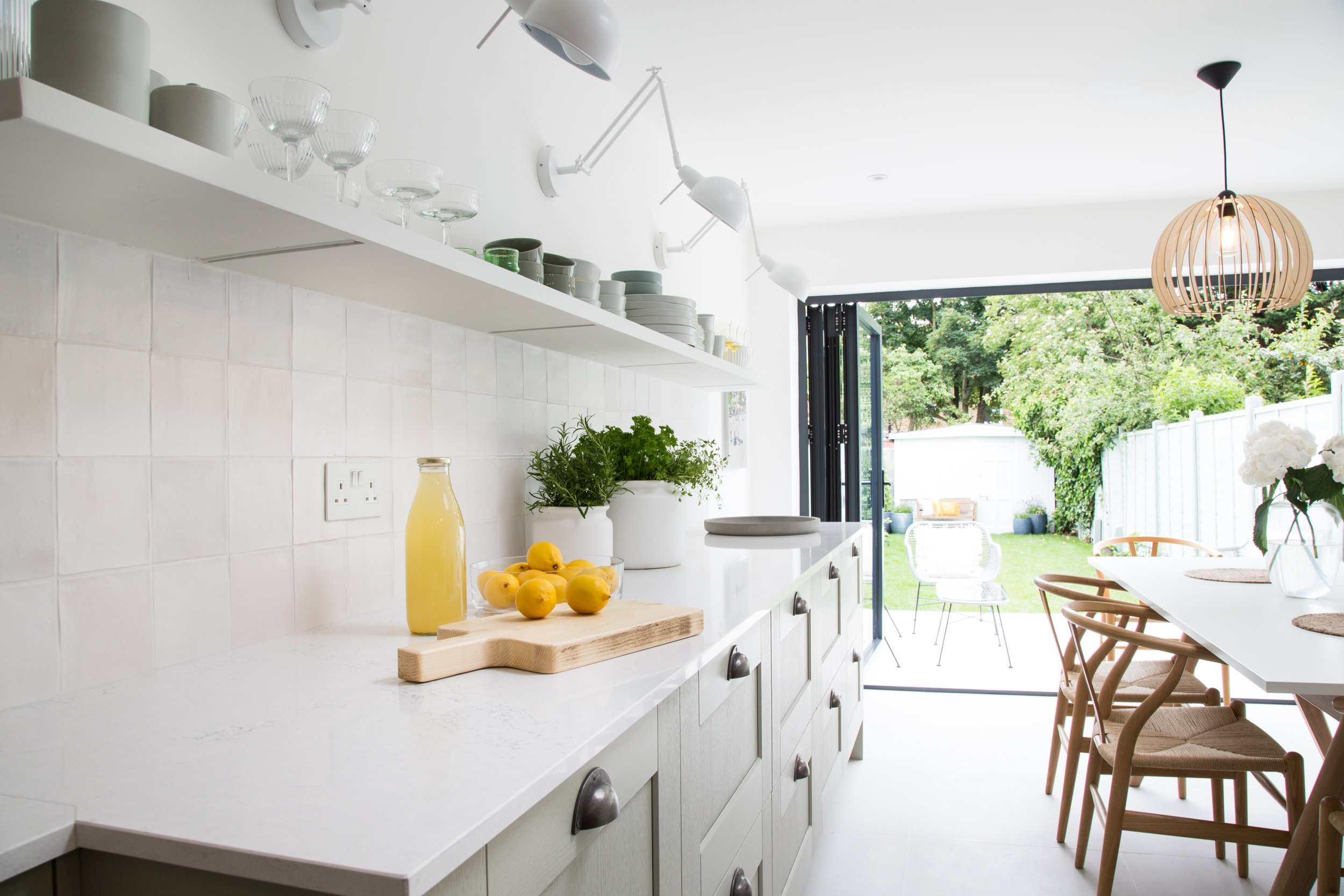 Private residence, London - Our Zellige Matt white walls tiles and Limestone Pearl 60x60cm floor tiles were used in this private London home. This project was featured on George Clarke's amazing spaces in 2019.