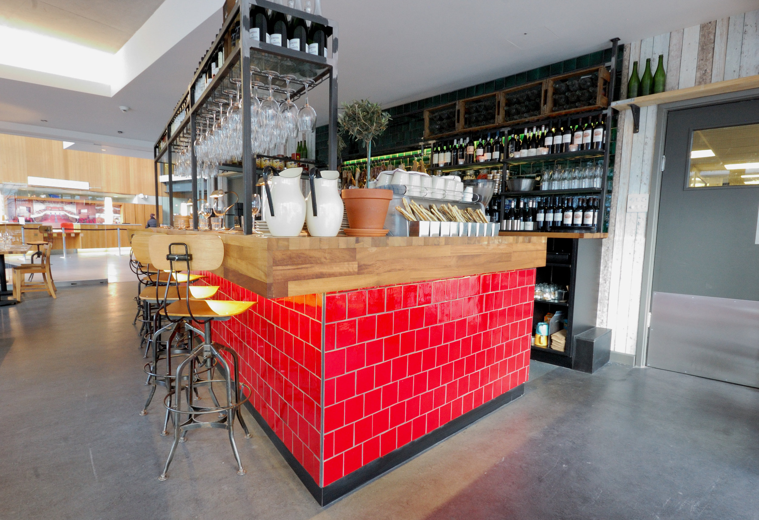 Beerd, Colston Hall, Bristol - Handmade 'zellige' style tiles supplied to this bar within Bristol's famous Colston Hall.