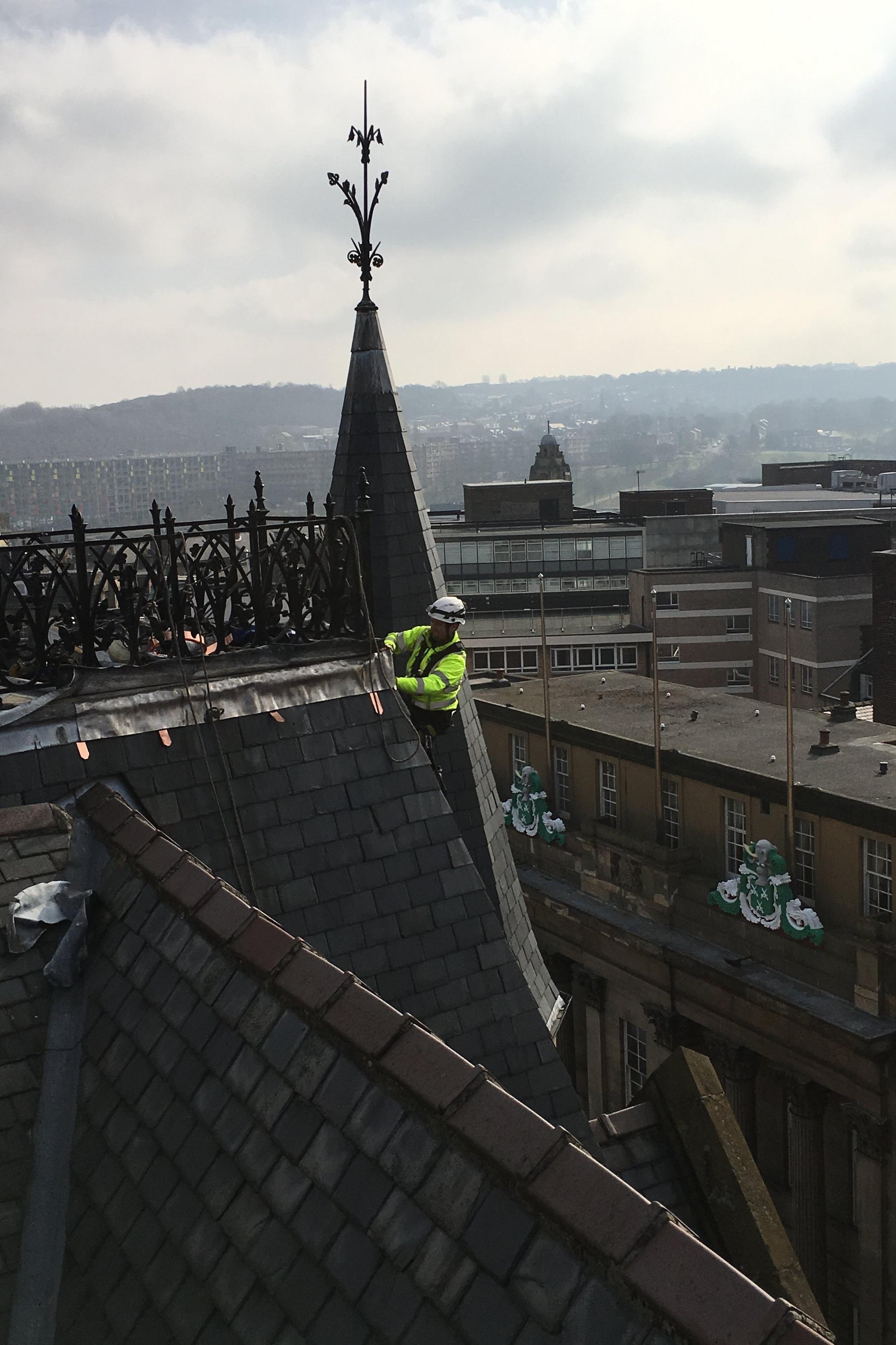 Leadwork on Heritage Building - Sheffield