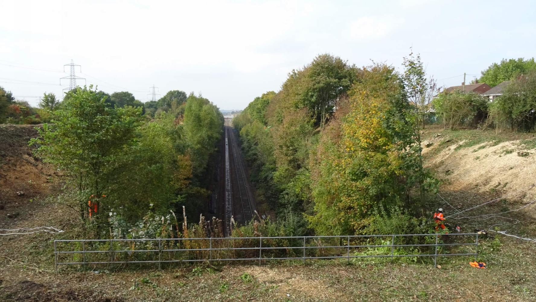 Severn Tunnel Vegetation Clearance - Before