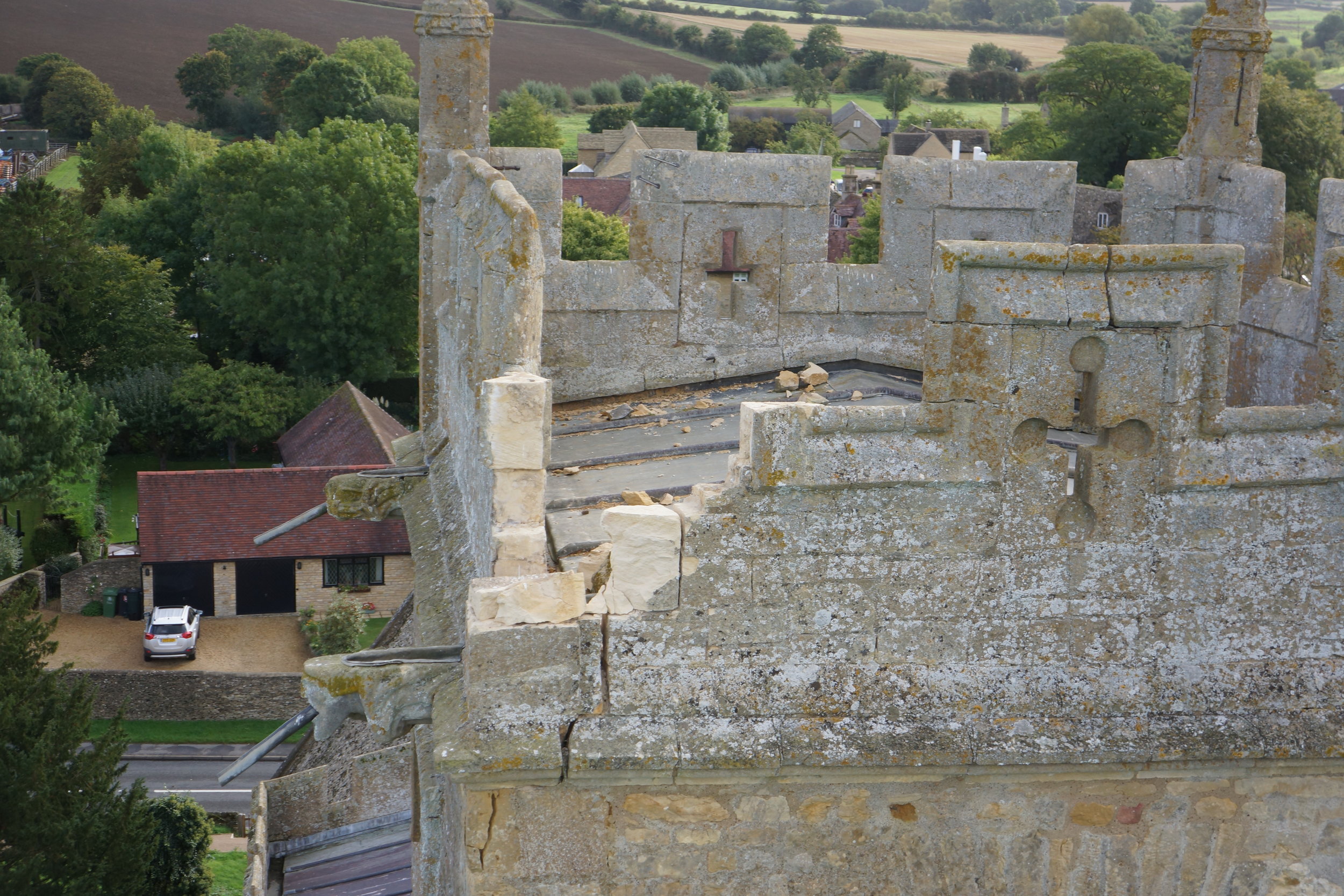 Drone Survey of lightning damage to a Church