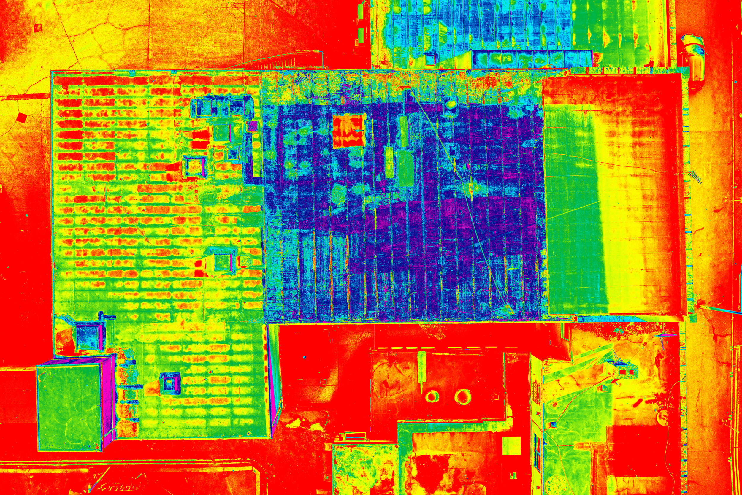 Drone Thermal Imaging survey of a Flat Roof