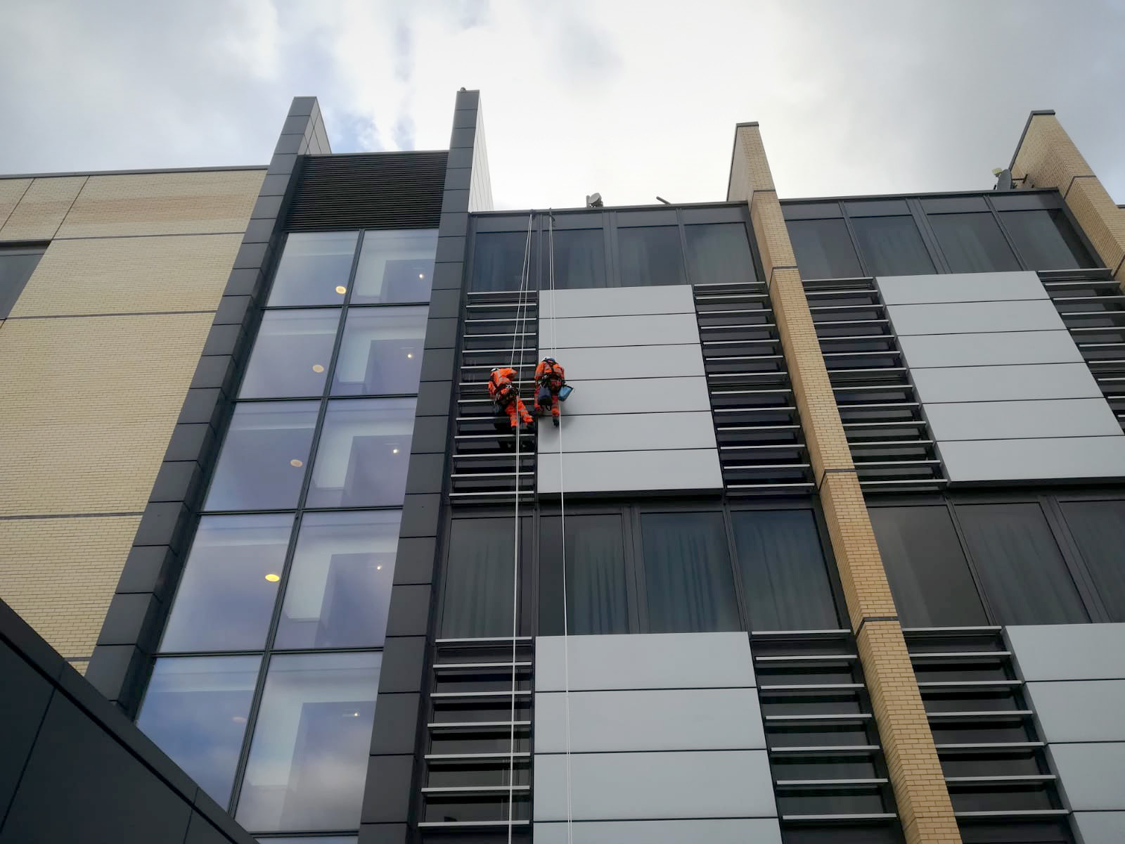 Facade Cleaning by Rope Access