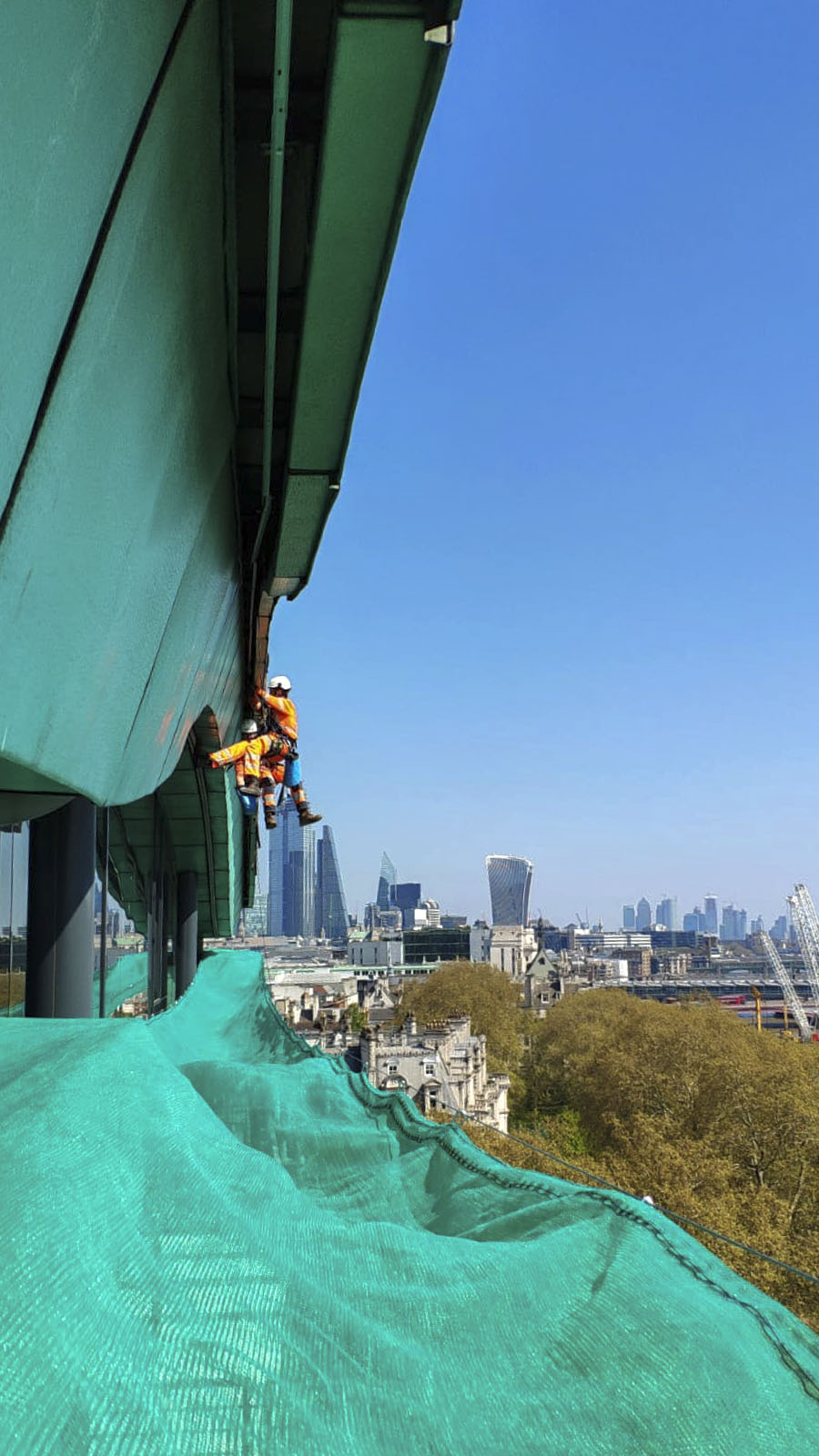 High Level Cladding Repairs with Debris Netting - London