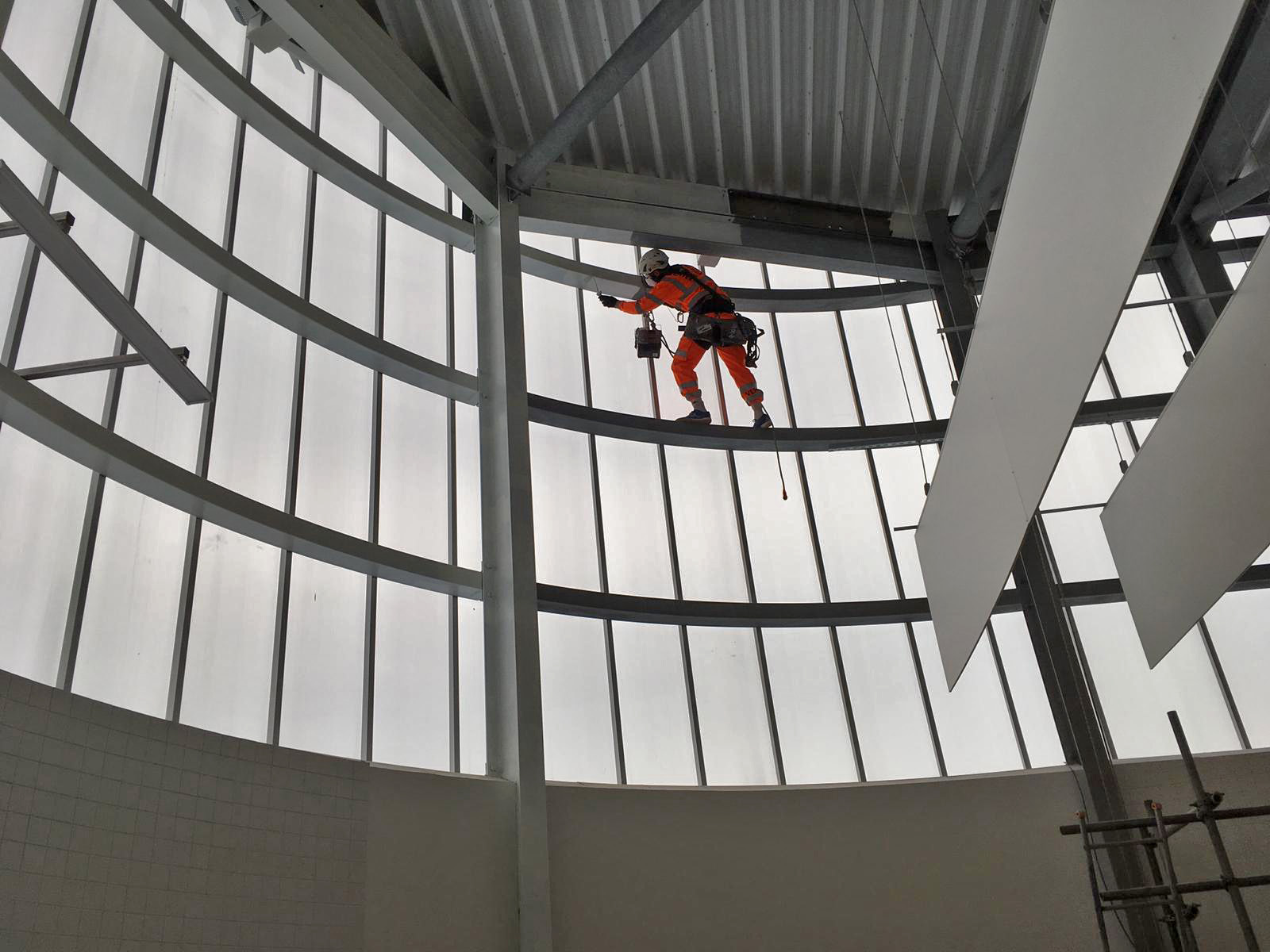 High Level Steelwork Painting - Shopping Centre