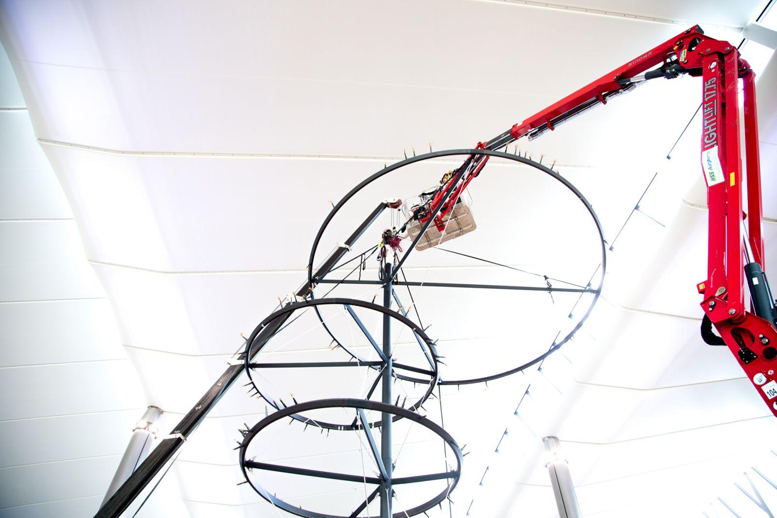 Corporate Art Installation - MEWP