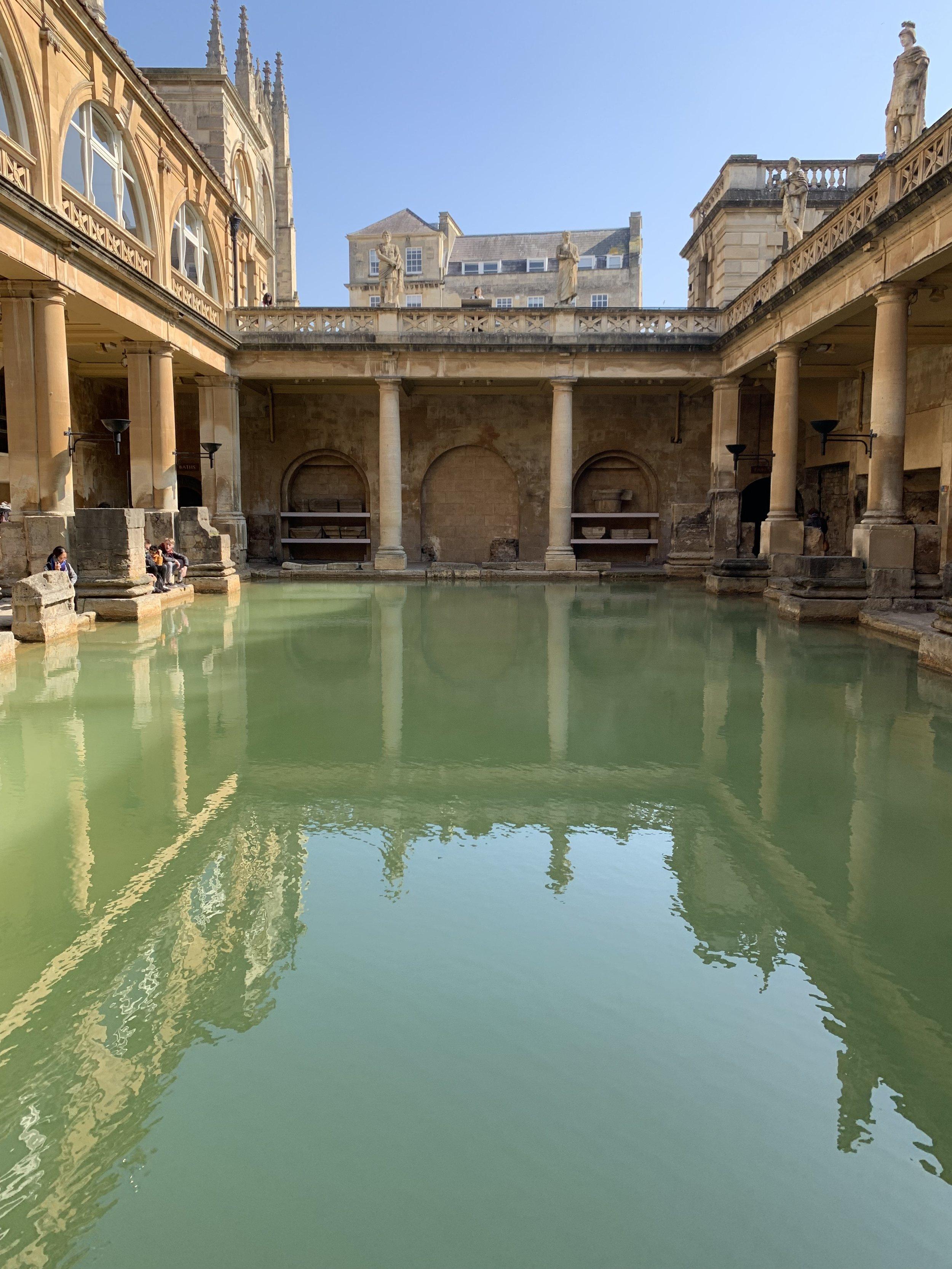 Midpoint of the Roman Baths