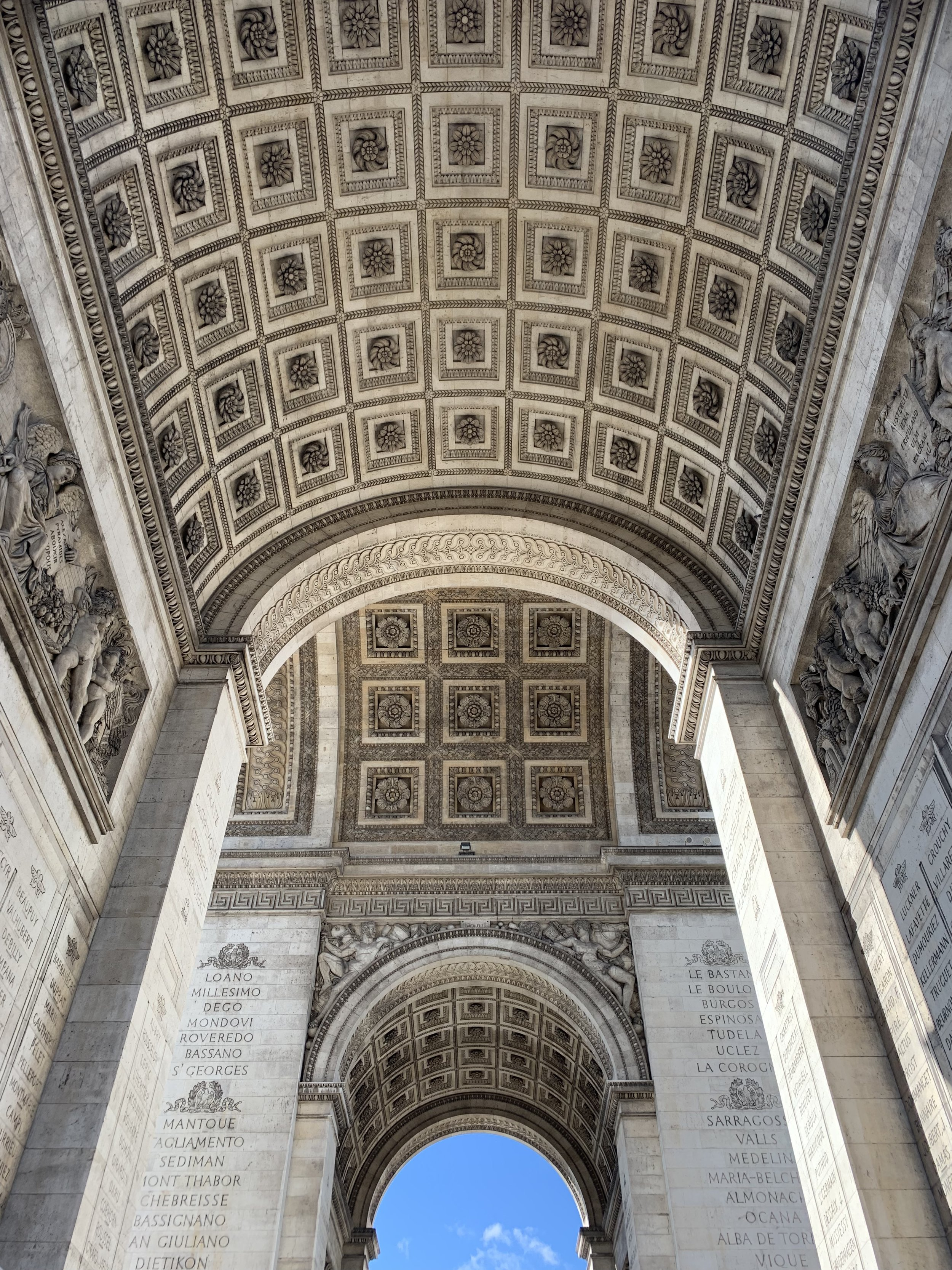 Underneath the Arc De Triomphe