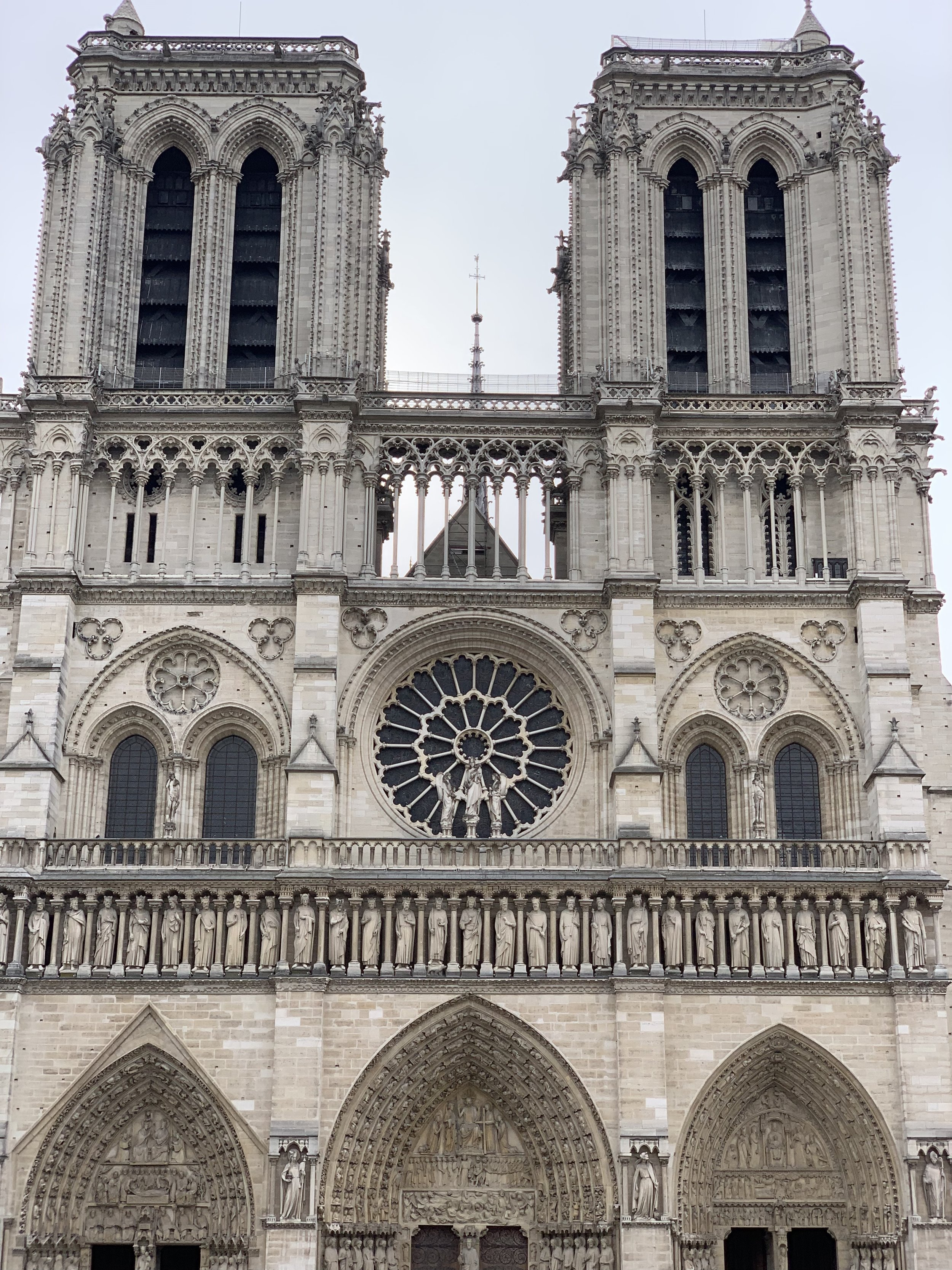Notre Dame stone face