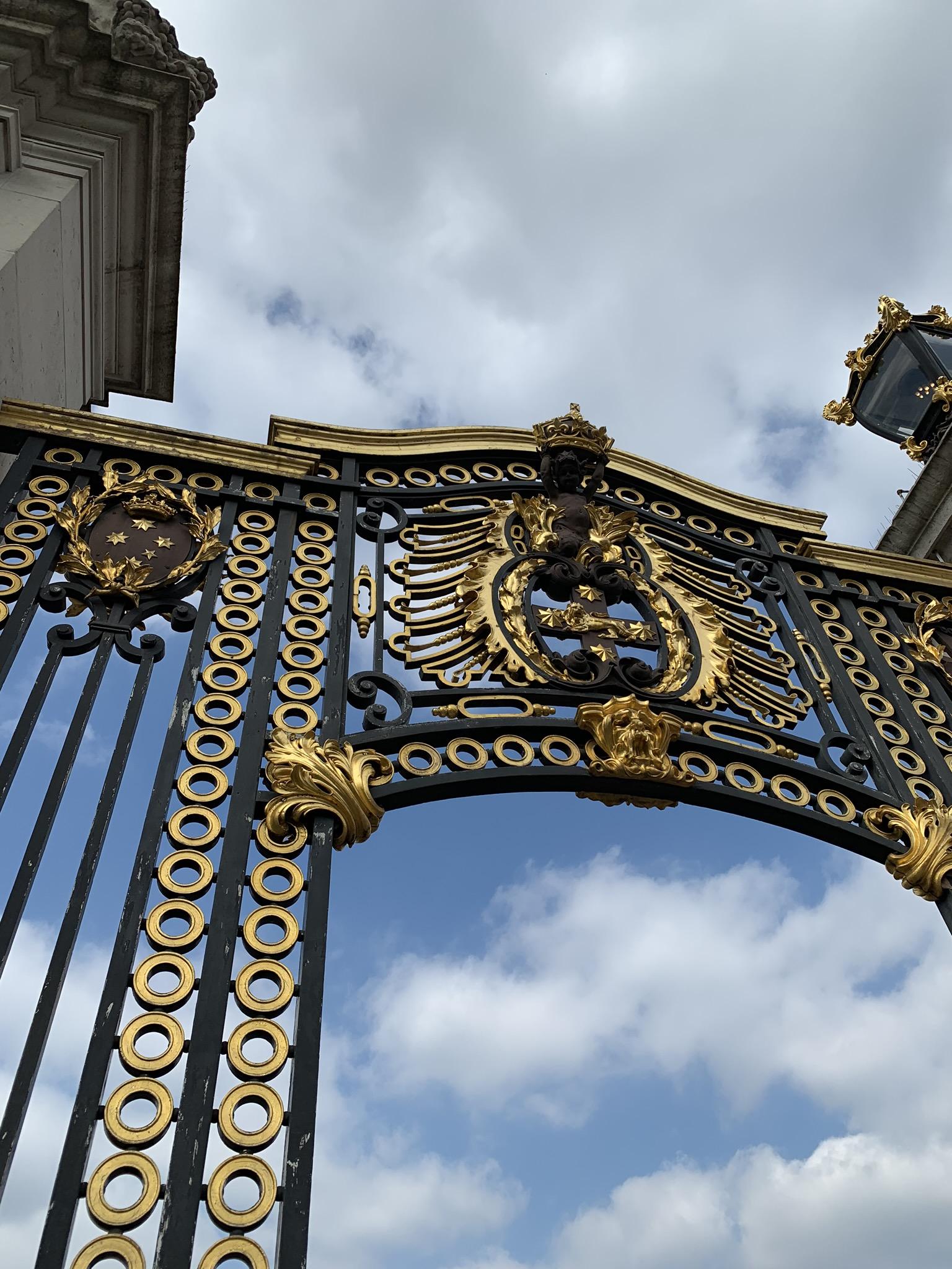 The gates surrounding Buckingham Palace