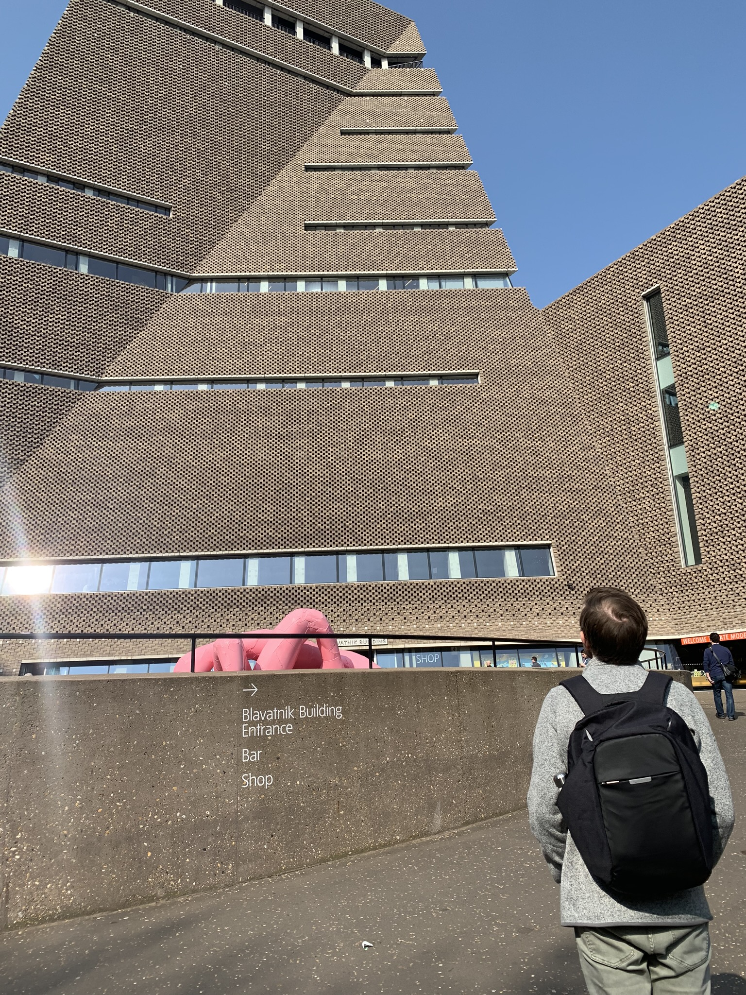Entering the Tate Modern