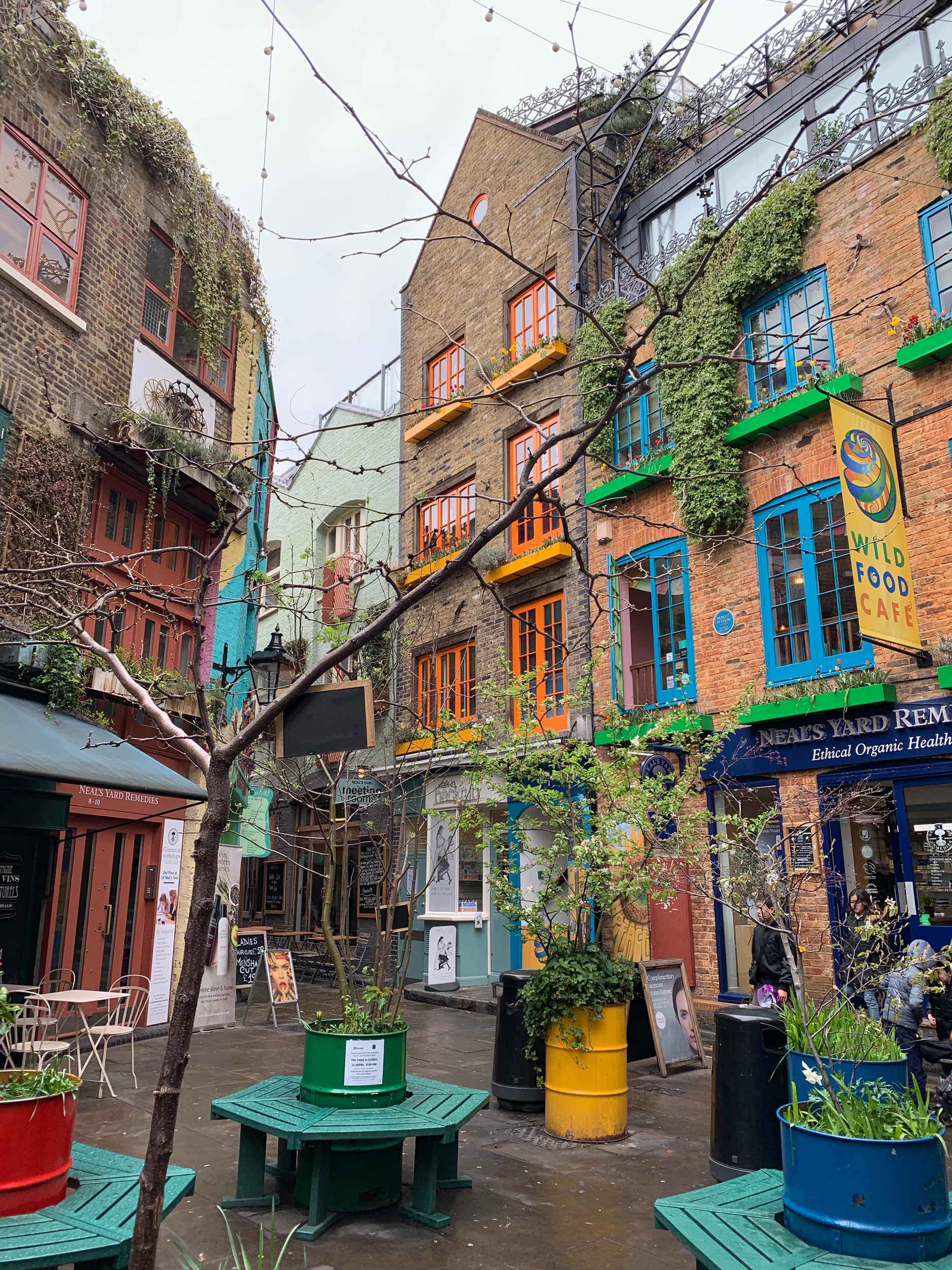 Brightly coloured Neal's Yard