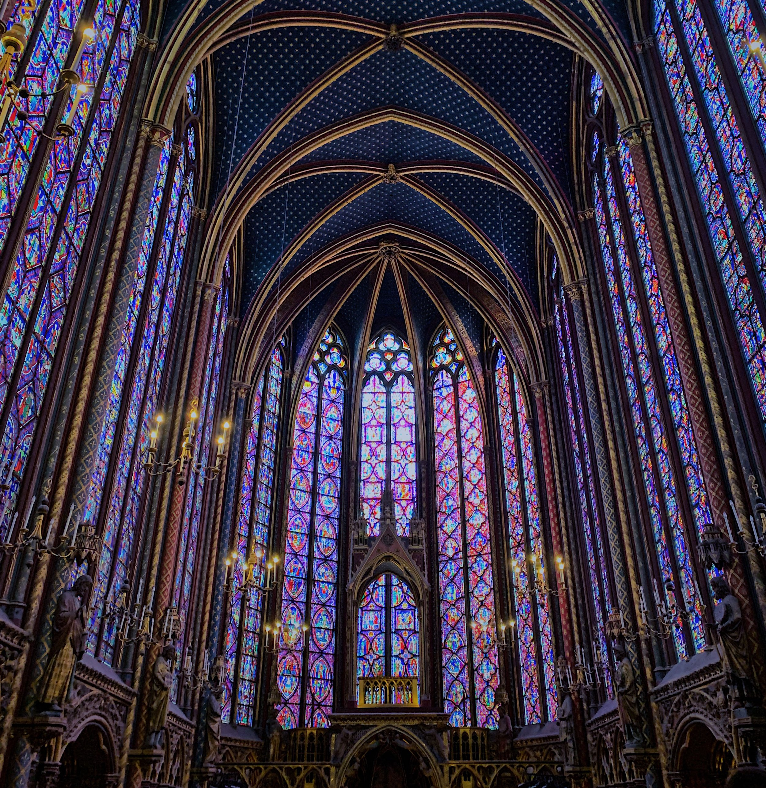 Glorious stained glass of Sainte-Chapelle