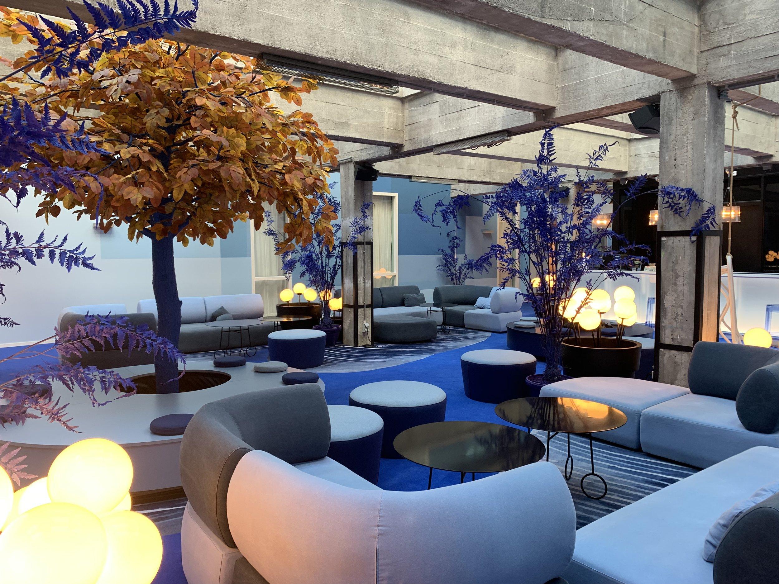 Colourful lounge and bar at Room Mate Bruno, Rotterdam