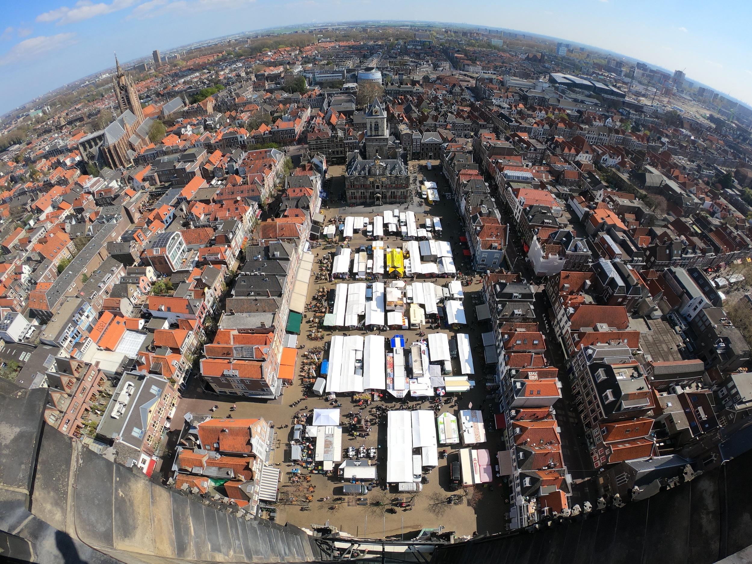 Captured on my GoPro (Hero7 Black) from the top of Niewe Kerk