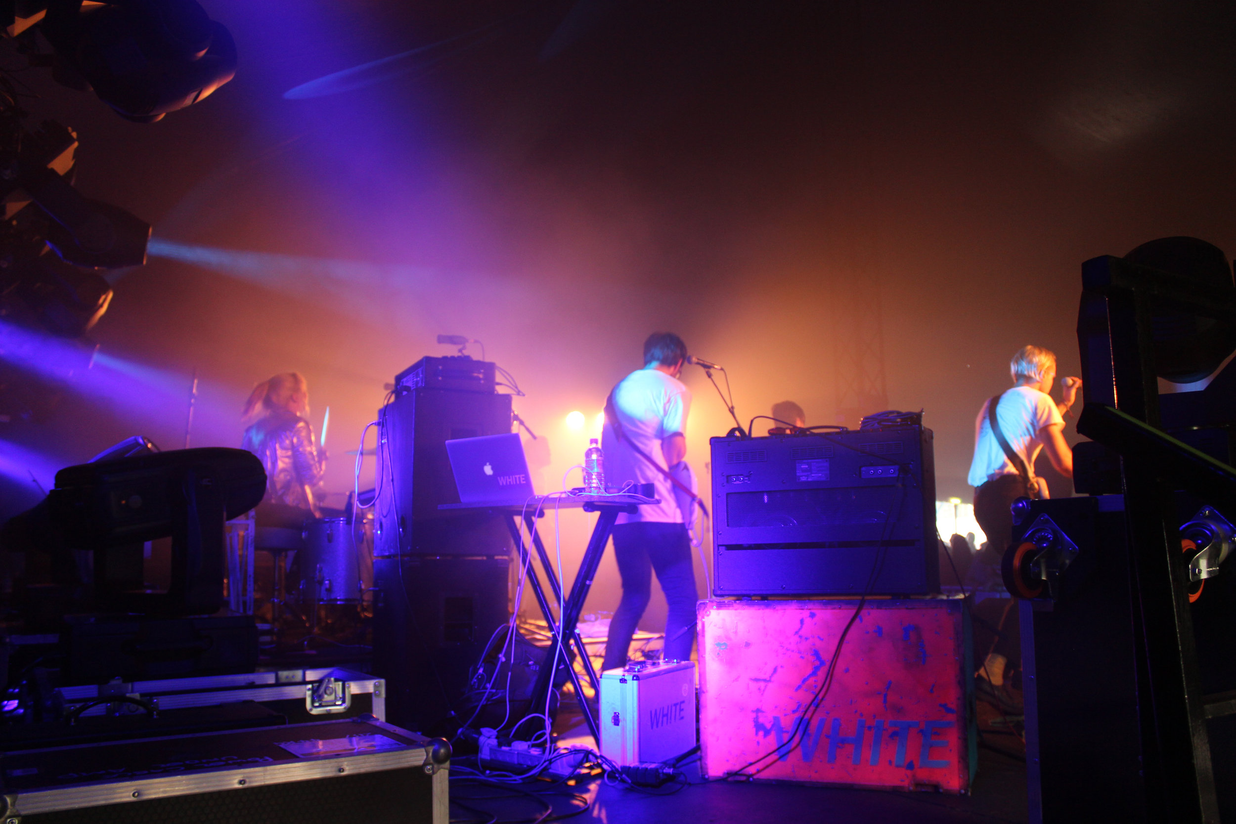 Great photos of White from the back of the stage at Electric Fields.
