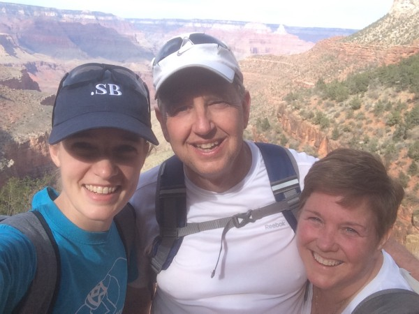 Kristen, Shawn and I at the Grand Canyon