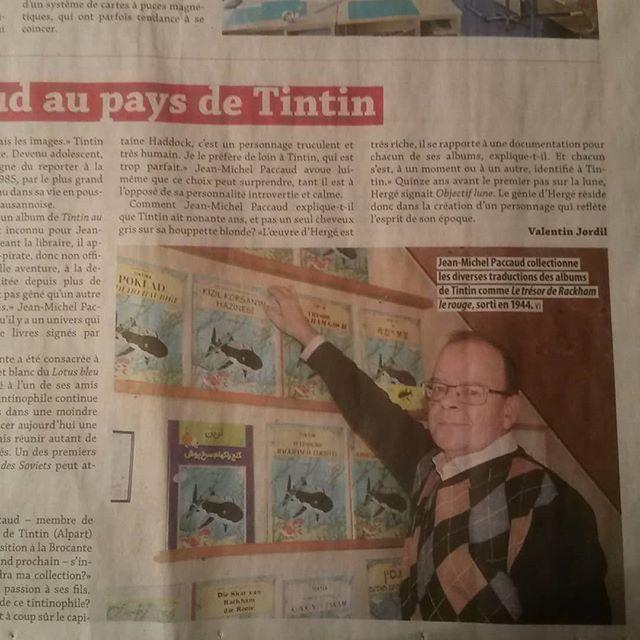 Notre vice-président dans le Messager de la Veveyse pour les 90 ans de Tintin.