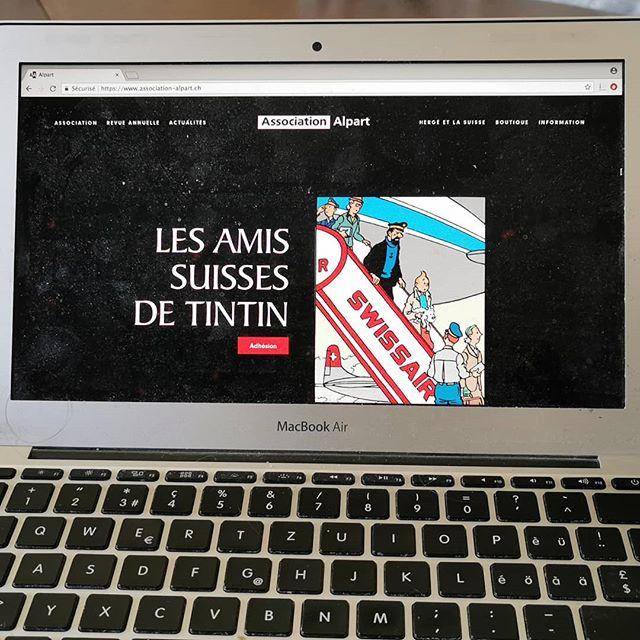 En ce 22 mai, jour de l'anniversaire de la naissance d'Hergé, l'association Alpart est heureuse de vous présenter son nouveau site Internet : www.association-alpart.ch.