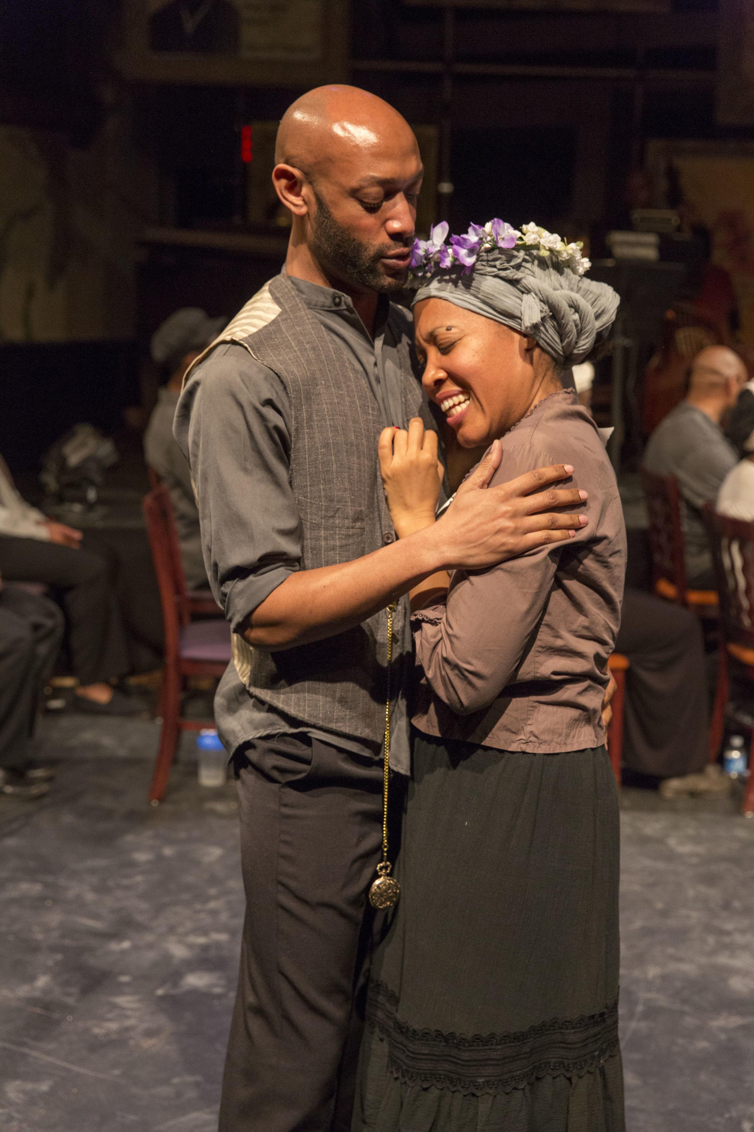 Janinah Burnett as Harriet Tubman and Damian Norfleet as John Tubman